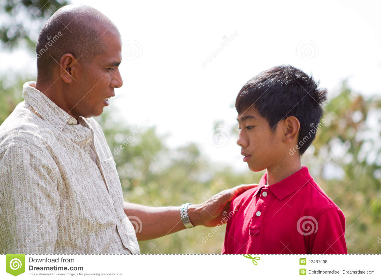 Father Talking To Son Stock Photo Image Of Communication