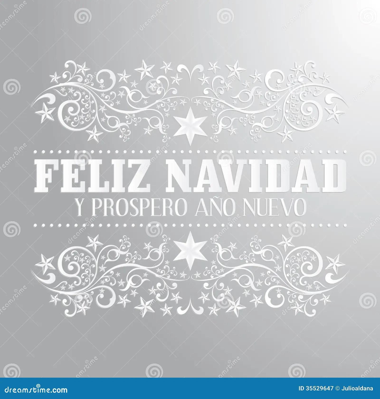 Feliz Navidad Y Prospero Ano Nuevo Stock Vector