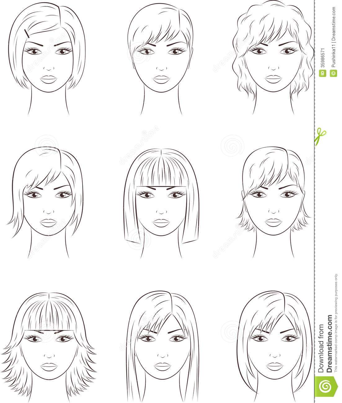 Female Face Stock Vector Illustration Of Cosmetology