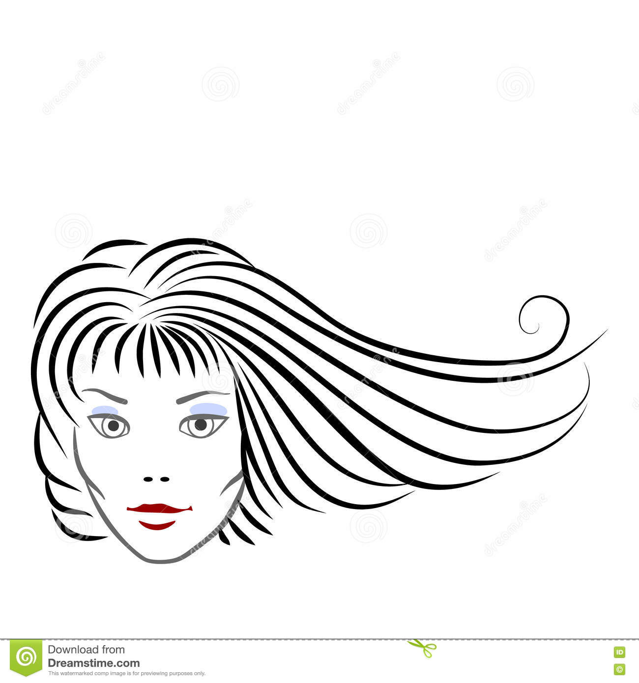 Vector Hair Brush Vector Illustration