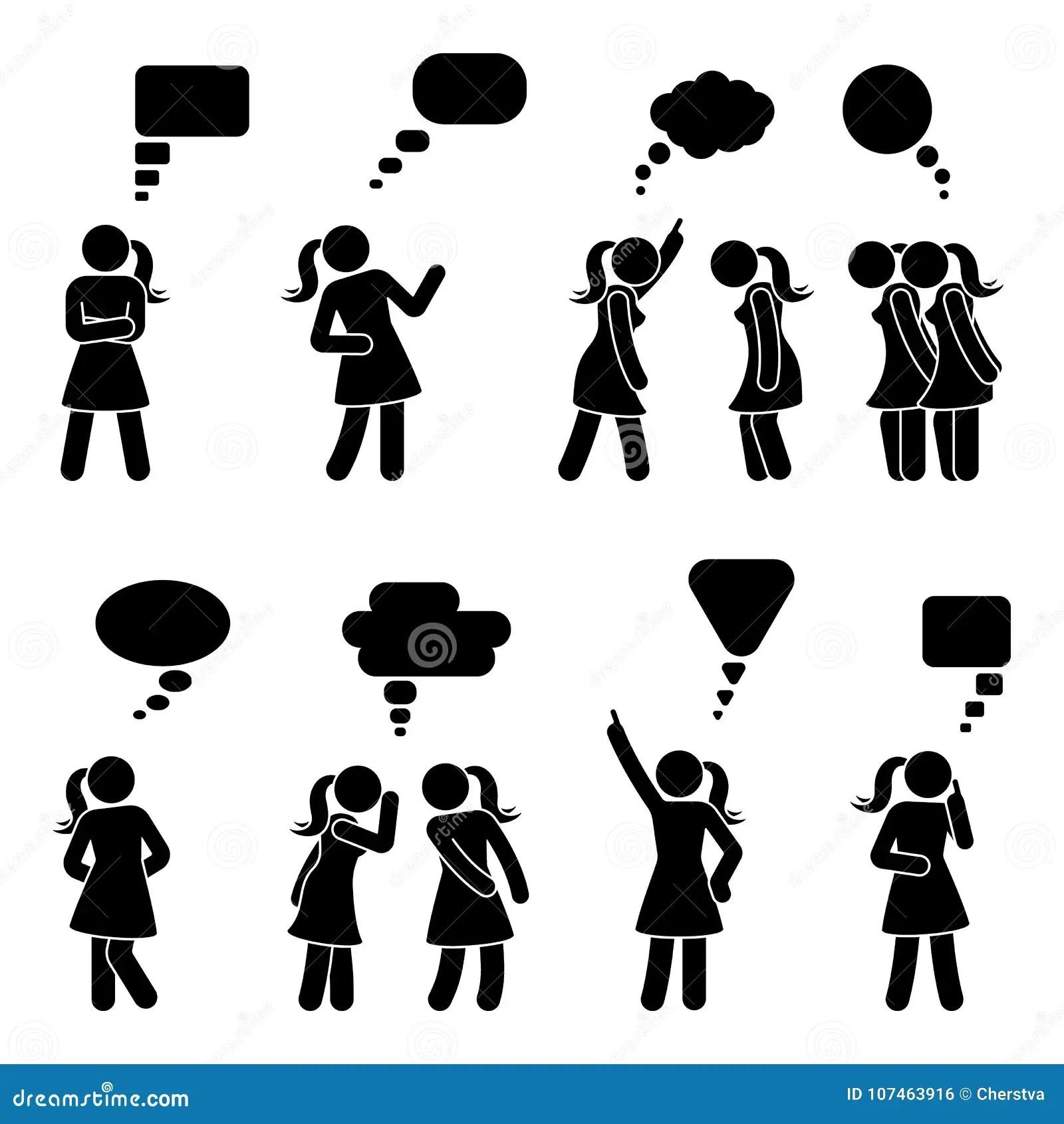 Figura Bolhas Da Vara Do Discurso Do Dialogo Ajustadas