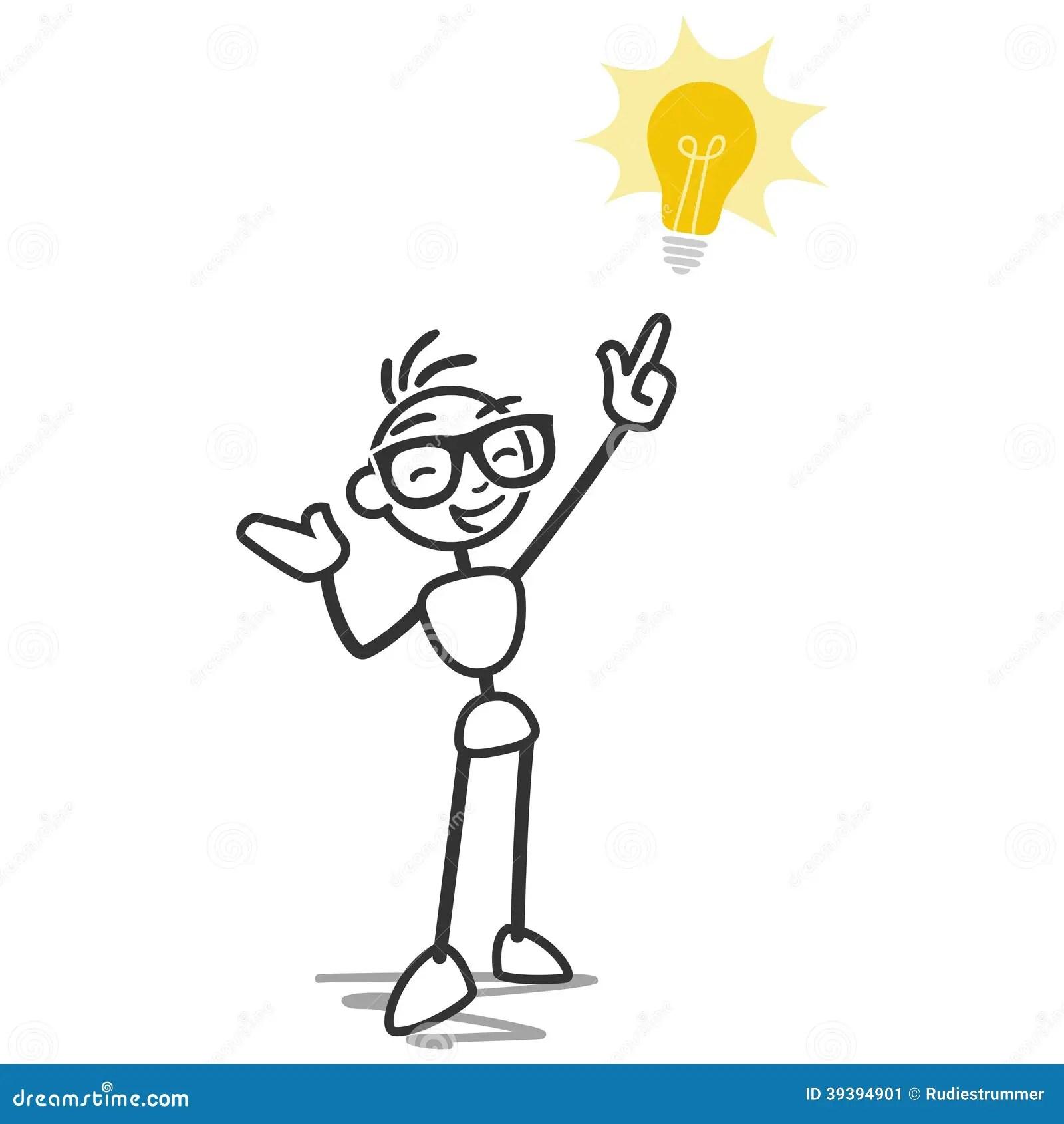 Figura Ideia Da Vara Da Ampola Do Homem Da Vara Ilustracao