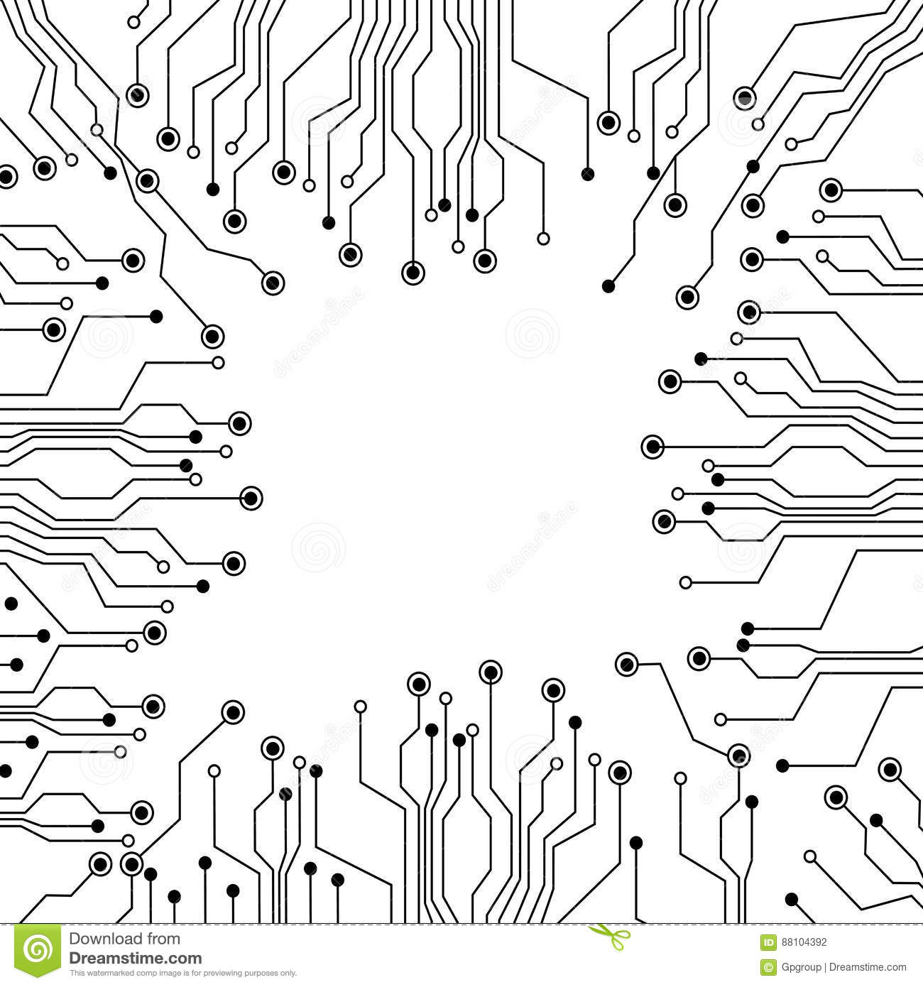 Figure Electrical Circuits Icon Stock Illustration