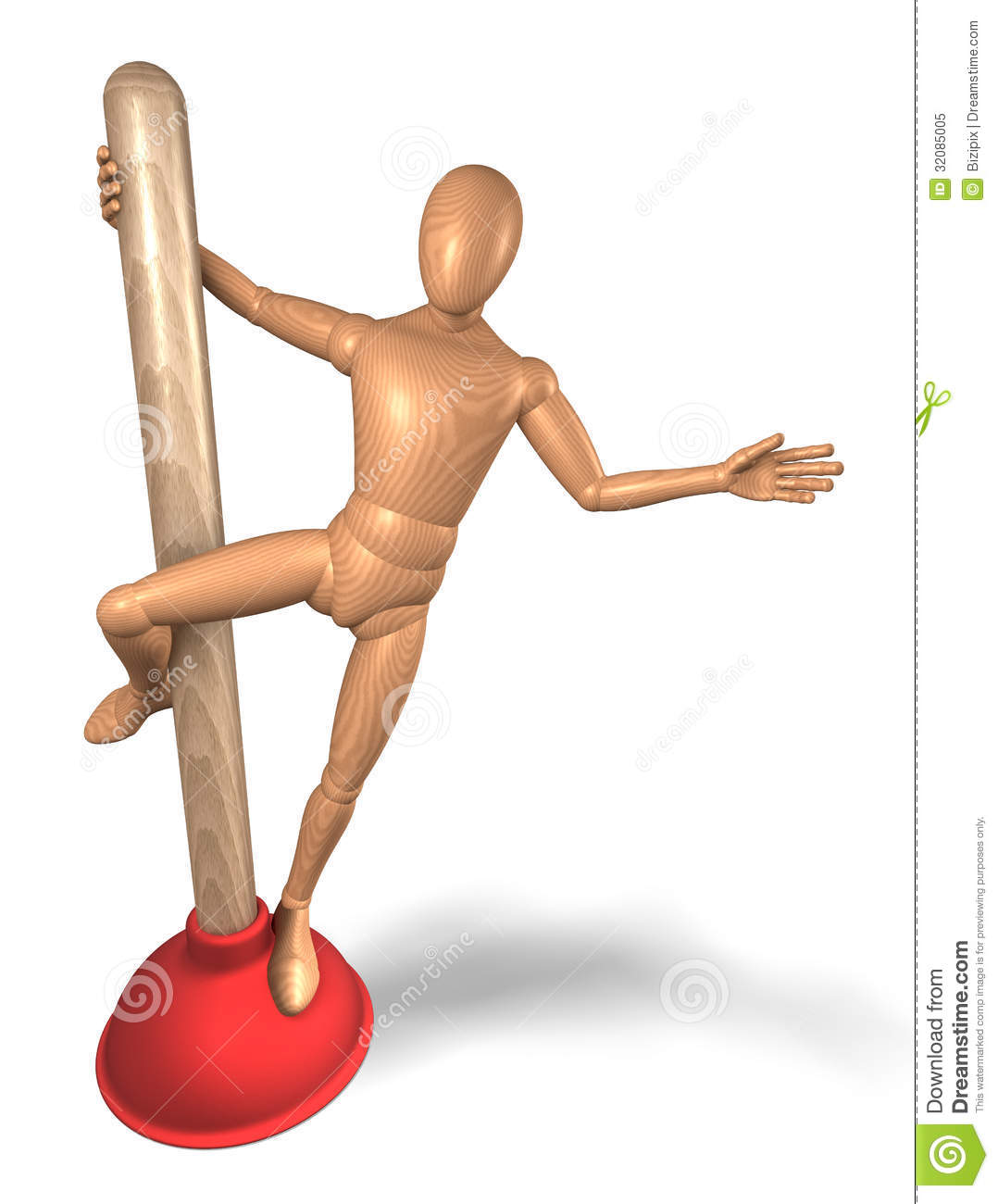 Figure Plunger Pole Dance Royalty Free Stock Photo Image