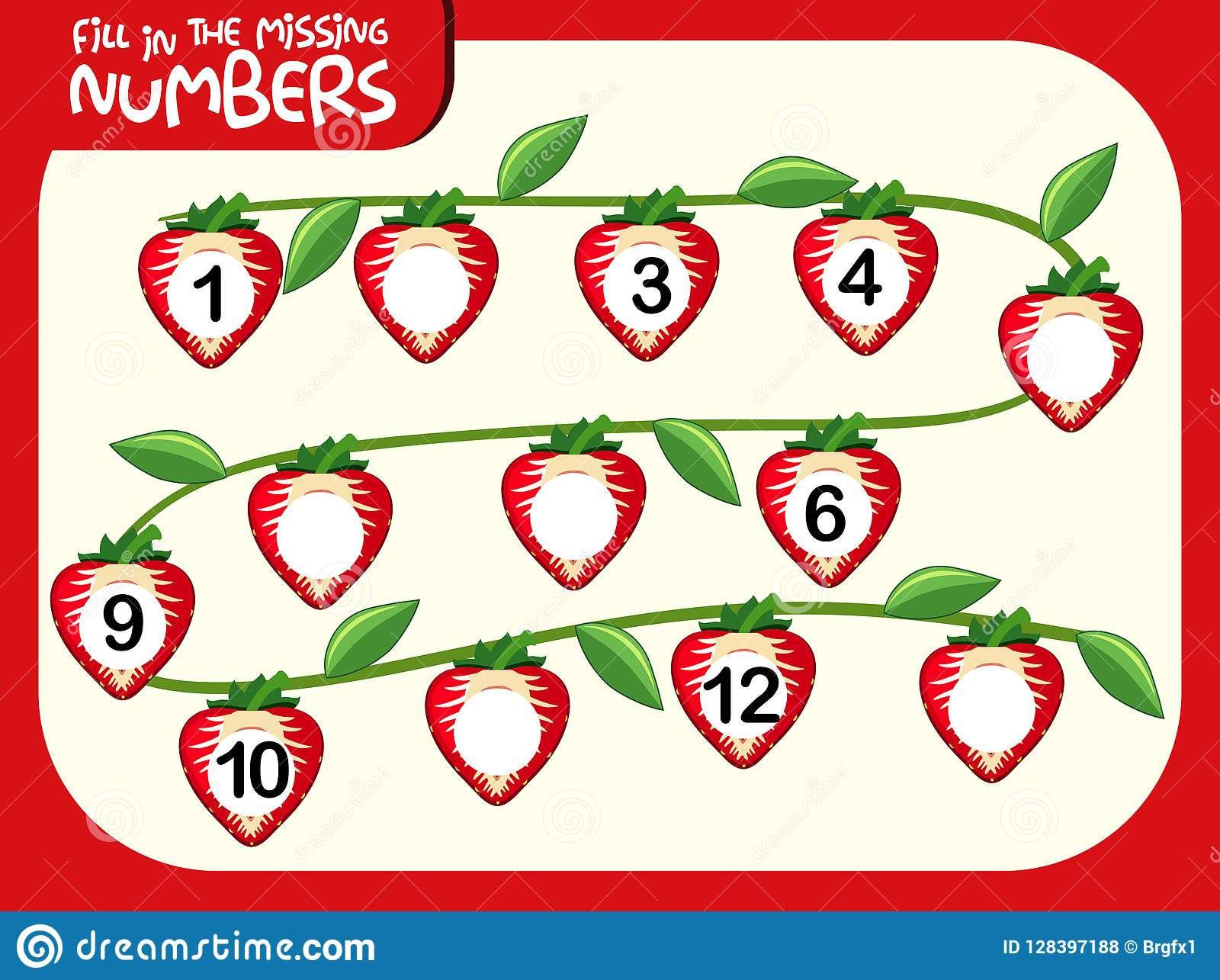 Number 6 Strawberry Font Red Berry Lettering Six Alphabet