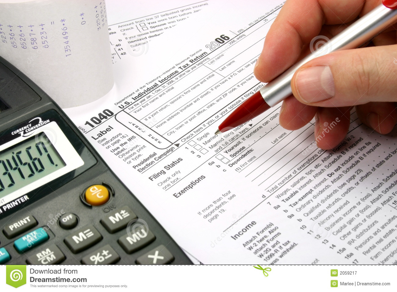 Filling Out Tax Form Editorial Photography Image Of