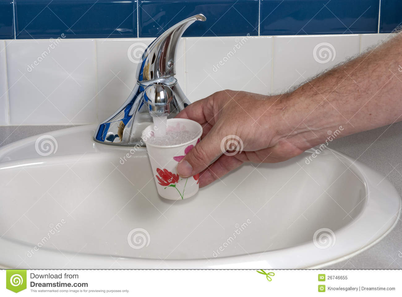 Filling A Paper Cup With Water Royalty Free Stock Photo Image 26746655