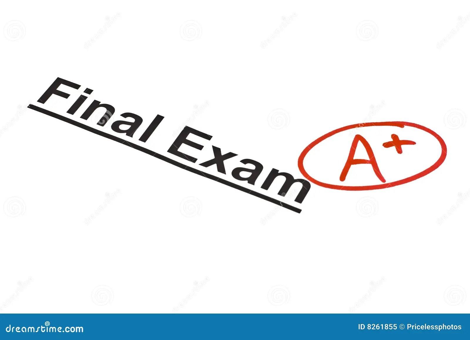 Finale D Examen Marquee Photo Libre De Droits
