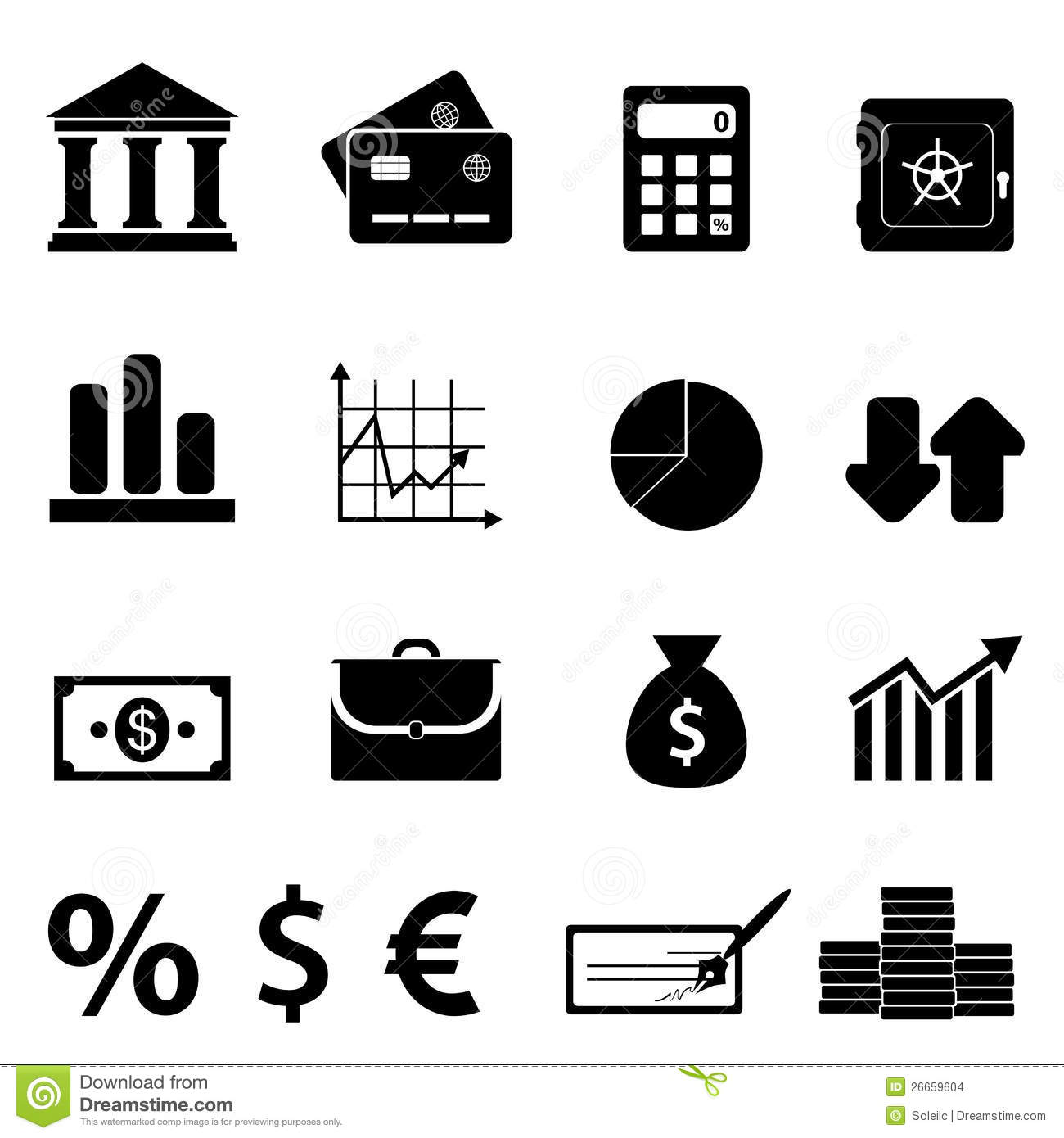 Finance Business And Banking Icons Stock Vector