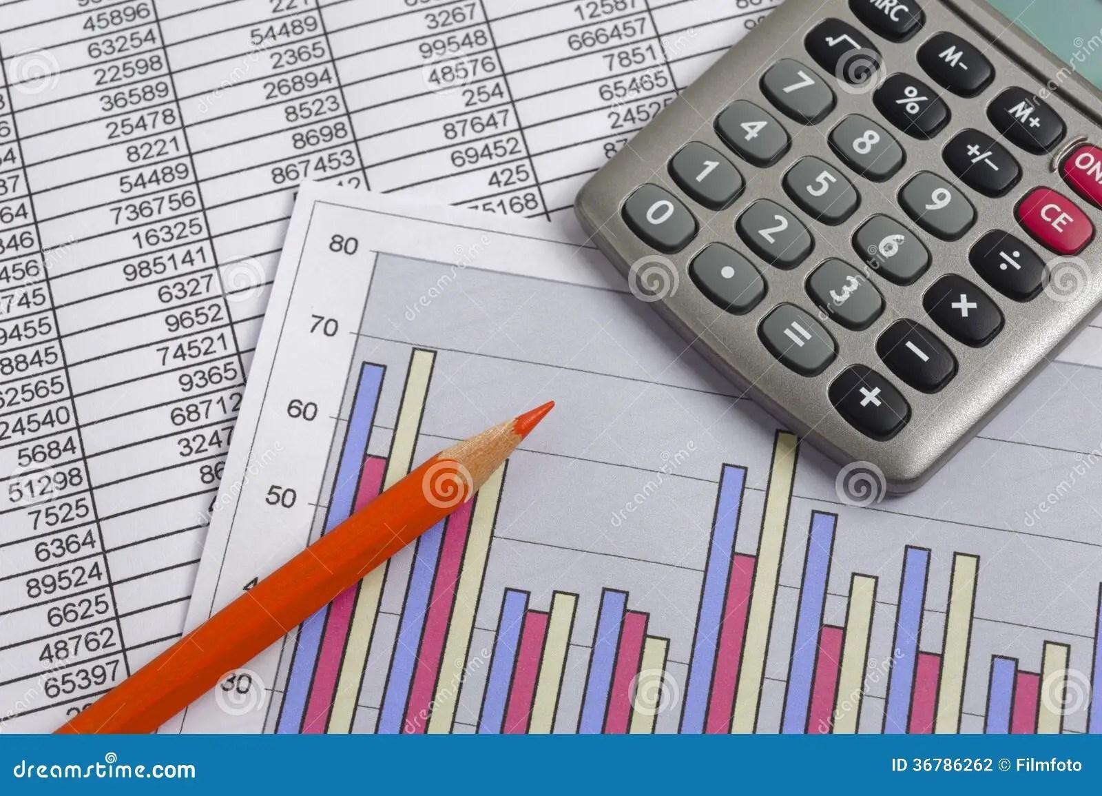 Finance Business Calculation Stock Photo