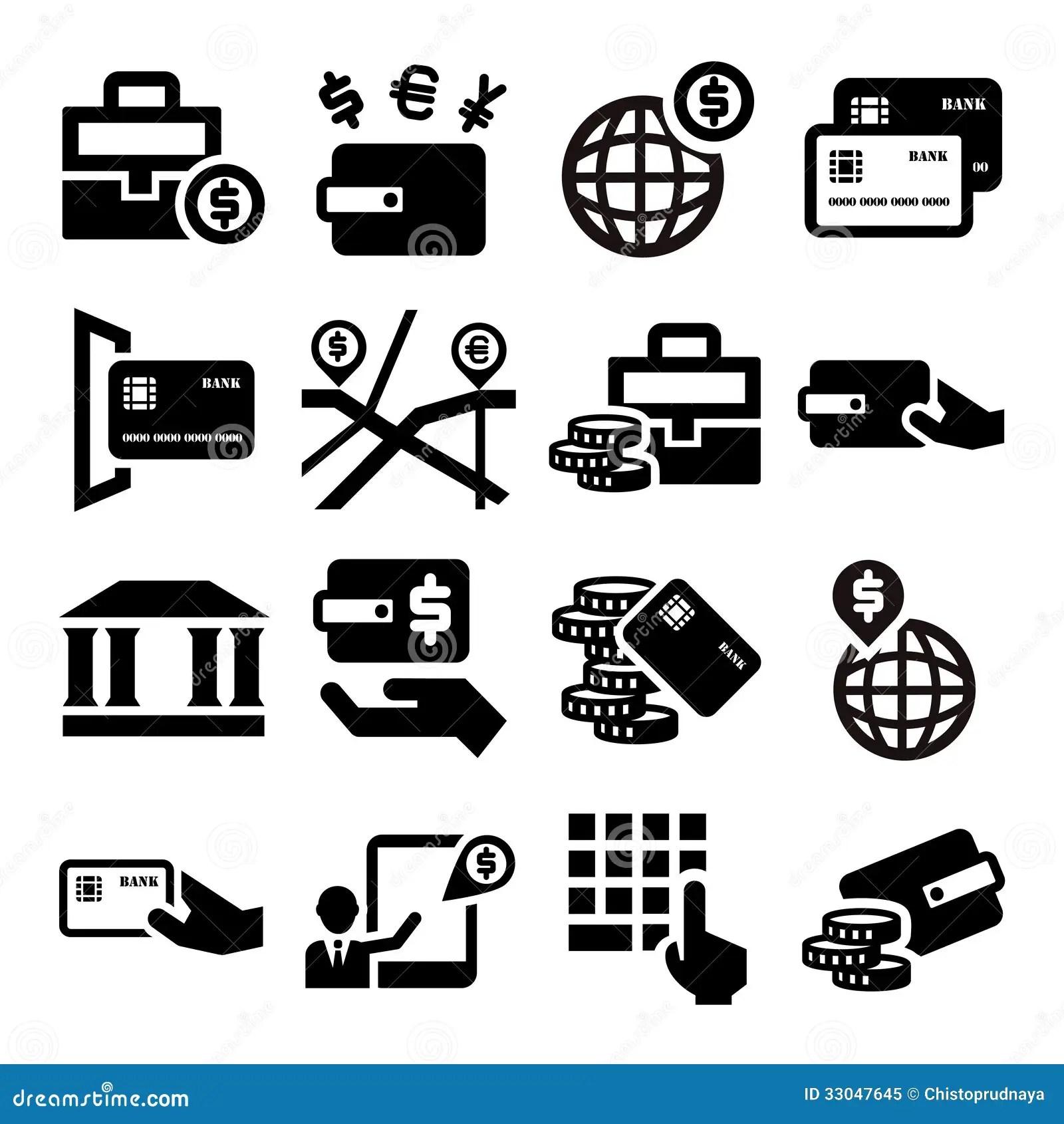 Finance Icons Stock Vector Illustration Of Leadership