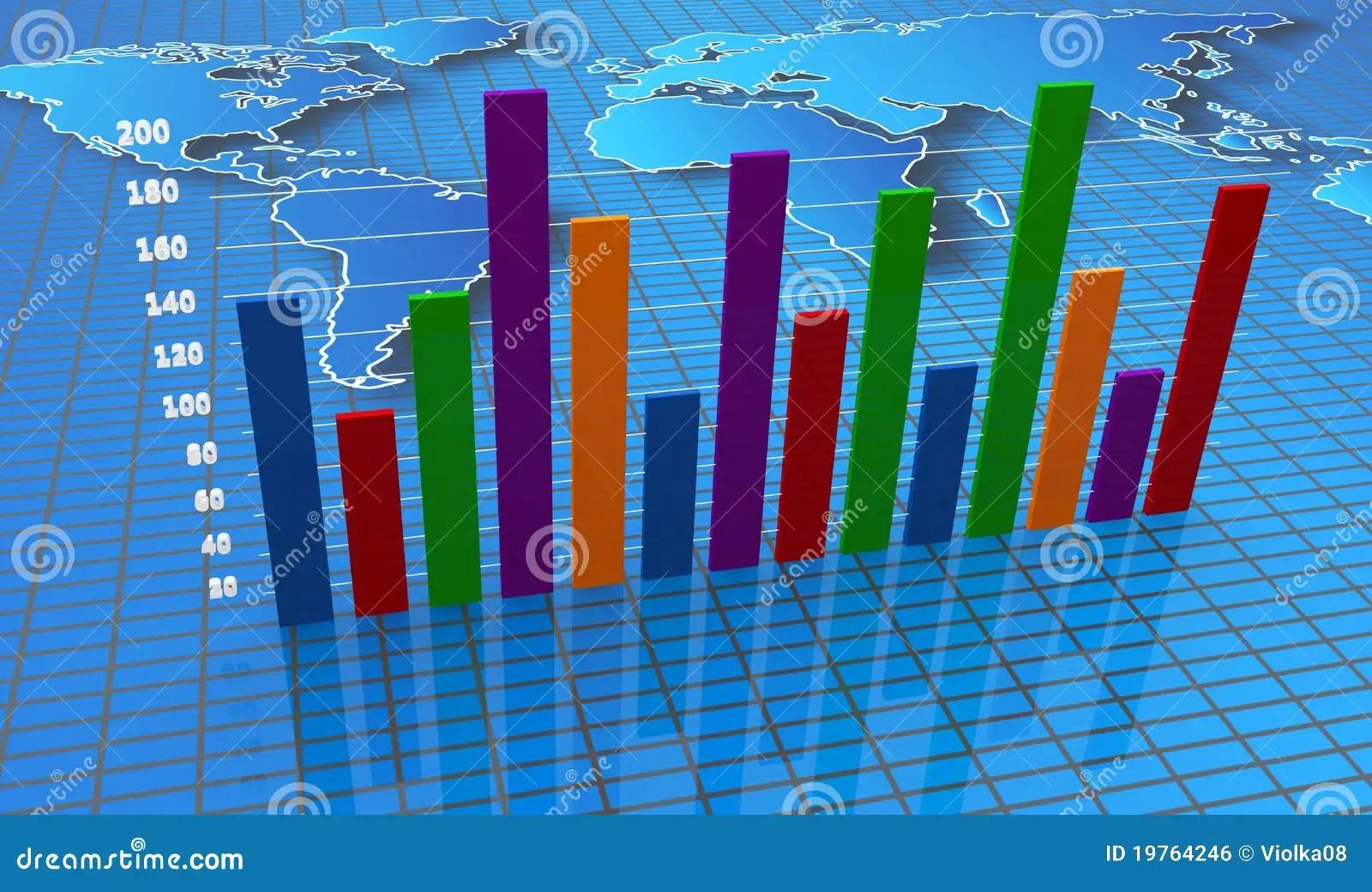 Financial Bar Charts And Graphs Stock Illustration