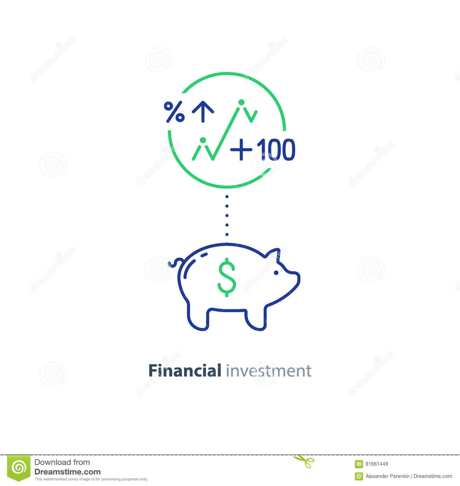 Financial Investment Piggy Bank Money Future Savings