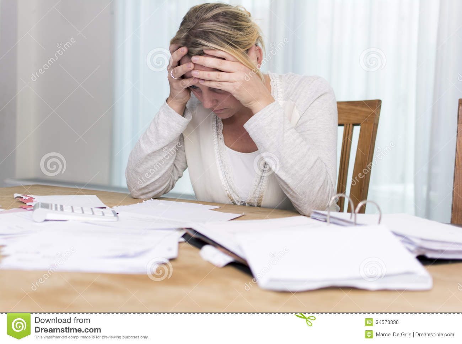 Financial Stress Stock Photo