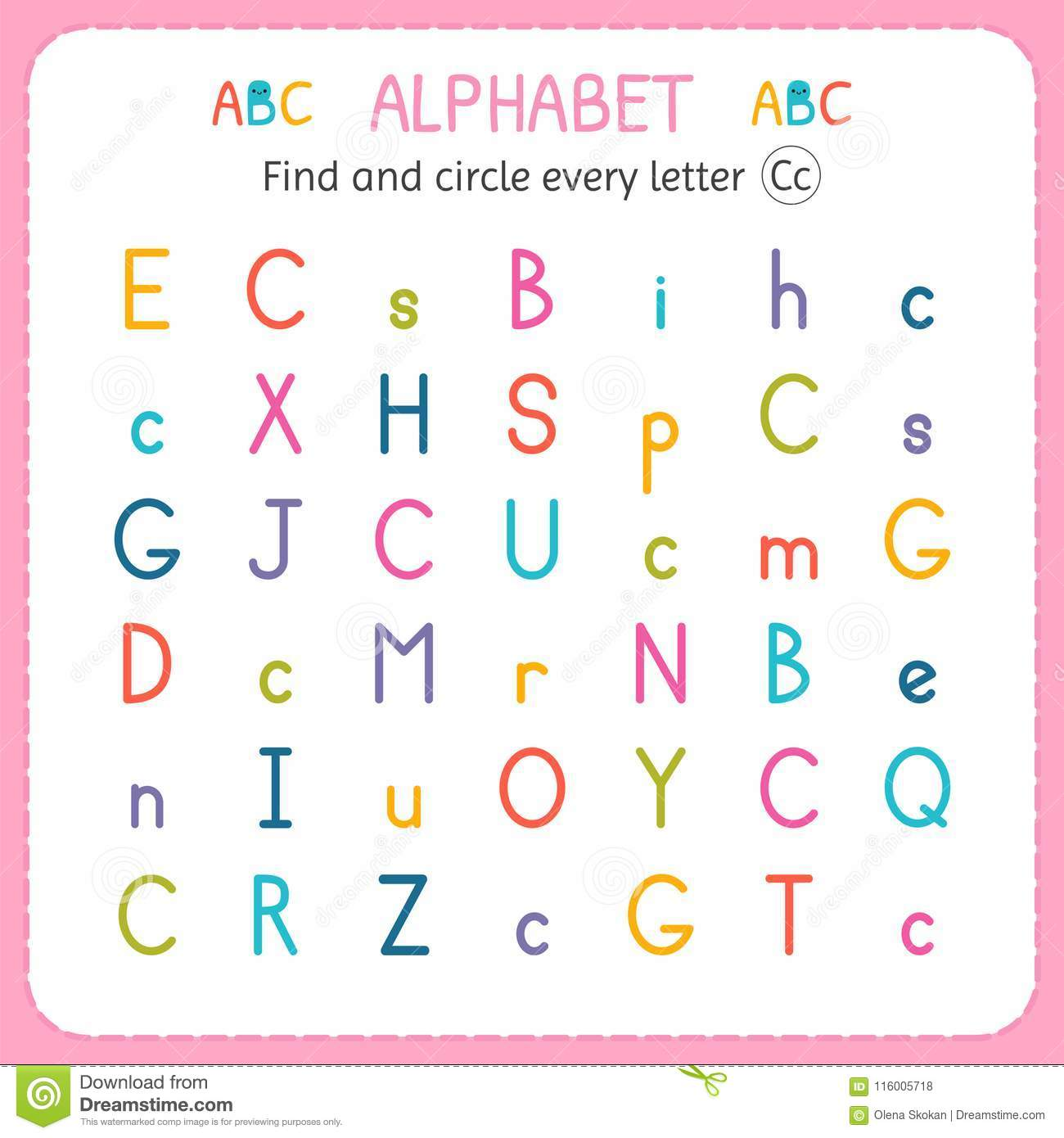 Circle The Alphabet Worksheet