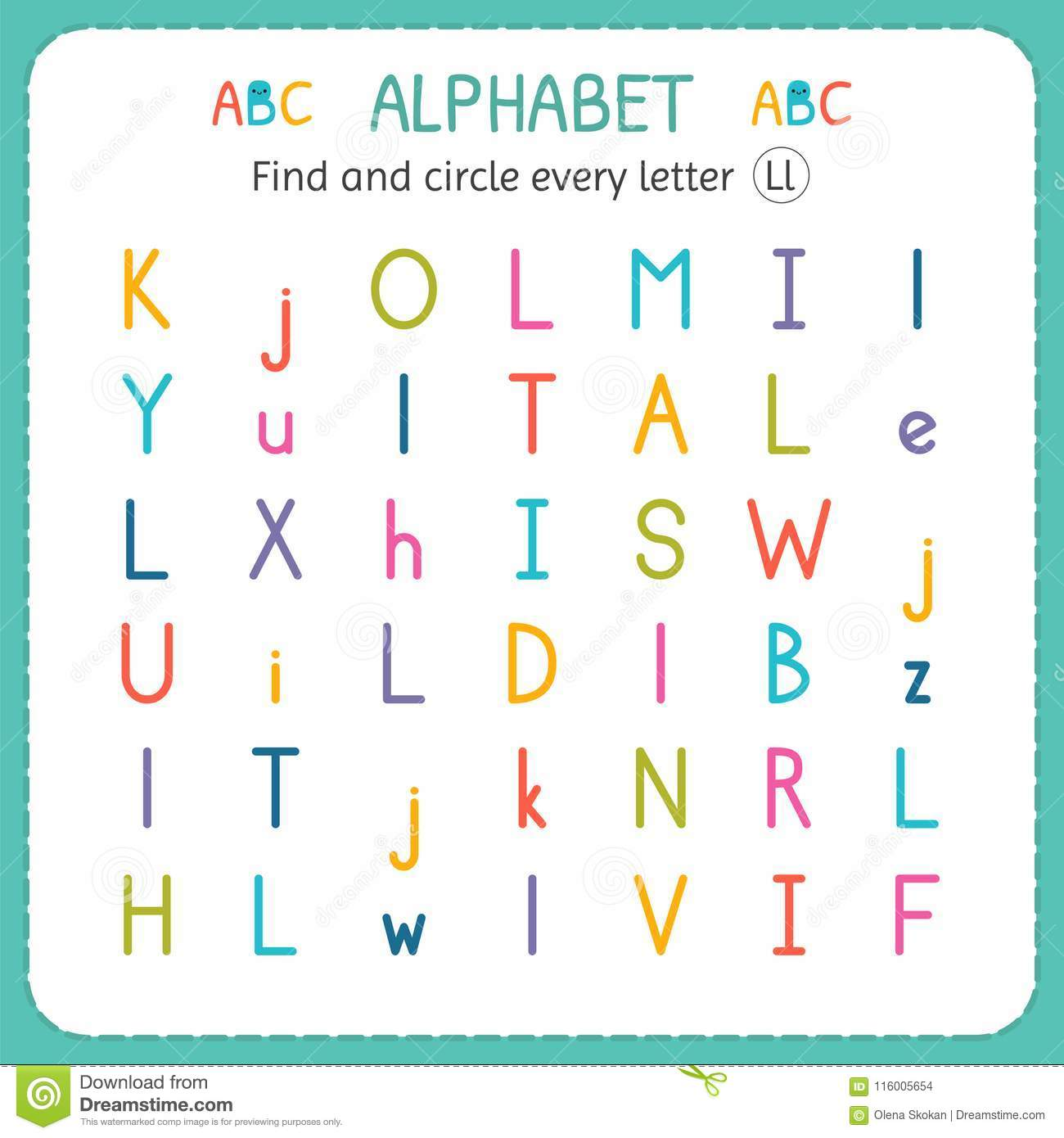 Find The Letter M Worksheets