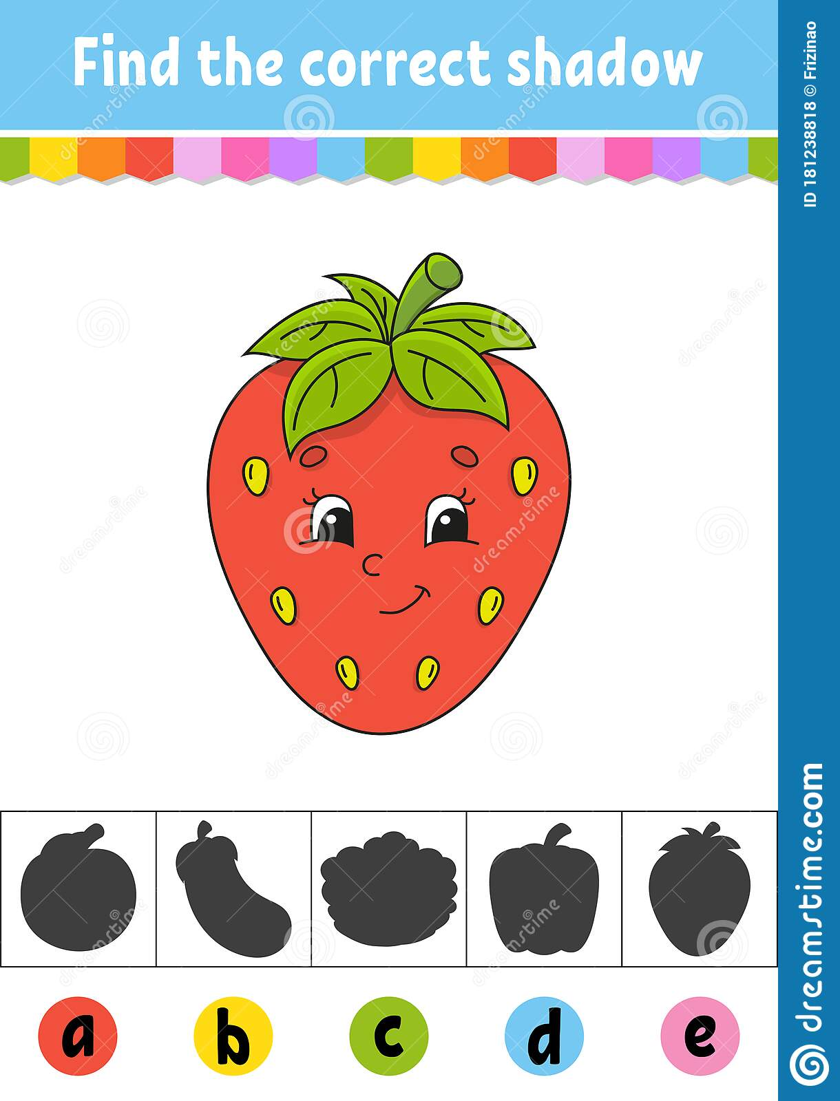 Find The Correct Shadow Berry Strawberry Education