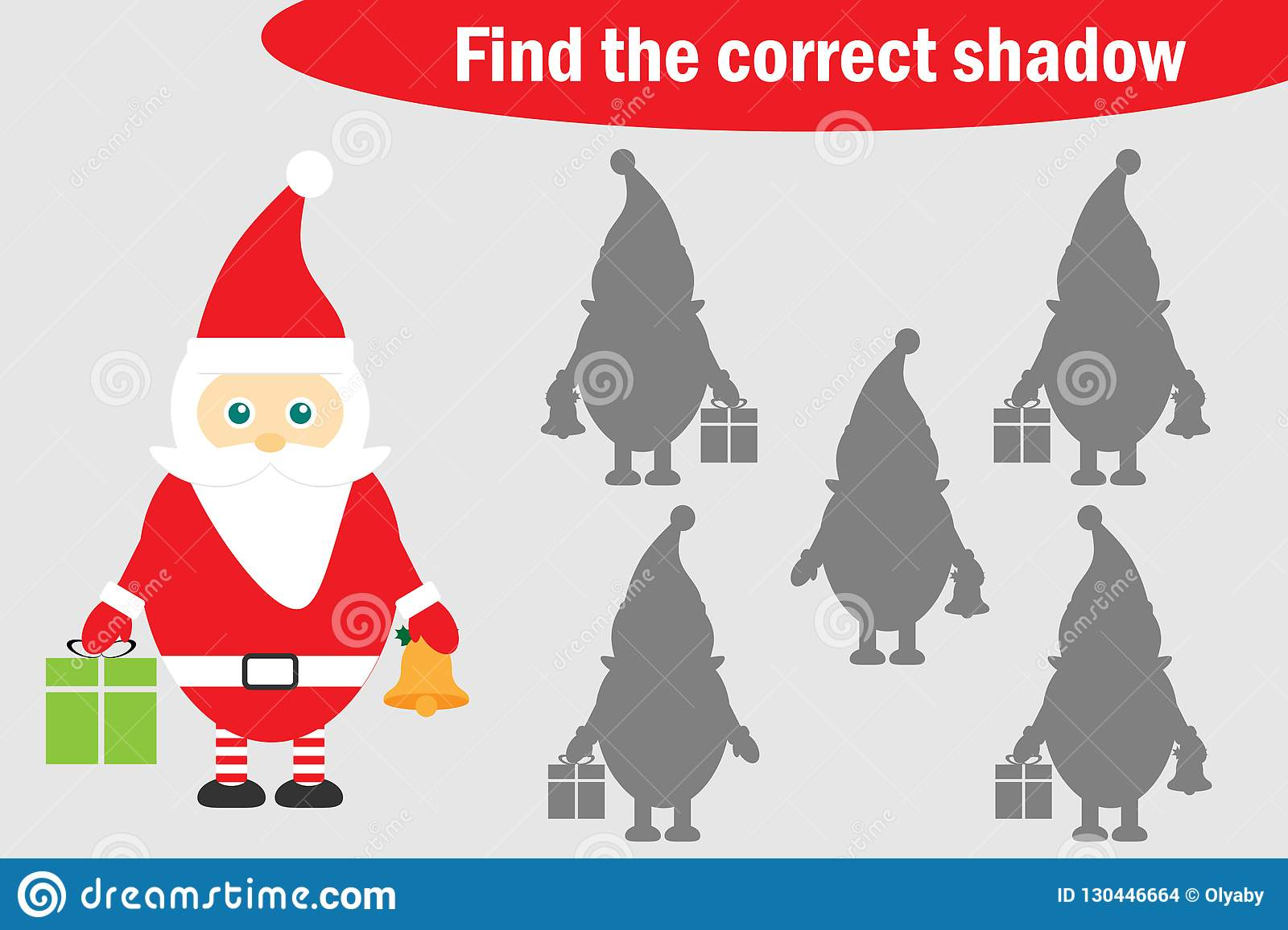 Find The Correct Shadow Christmas Game For Children
