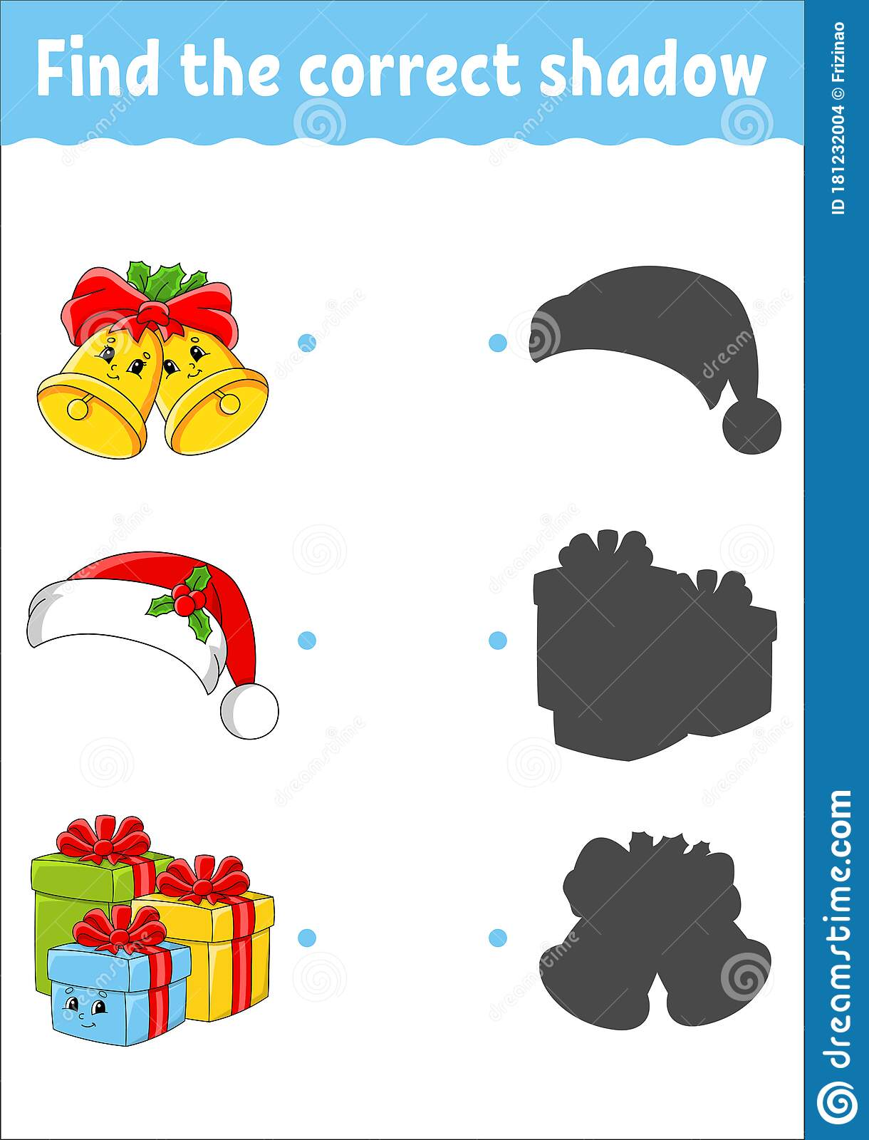 Find The Correct Shadow Christmas Theme Education