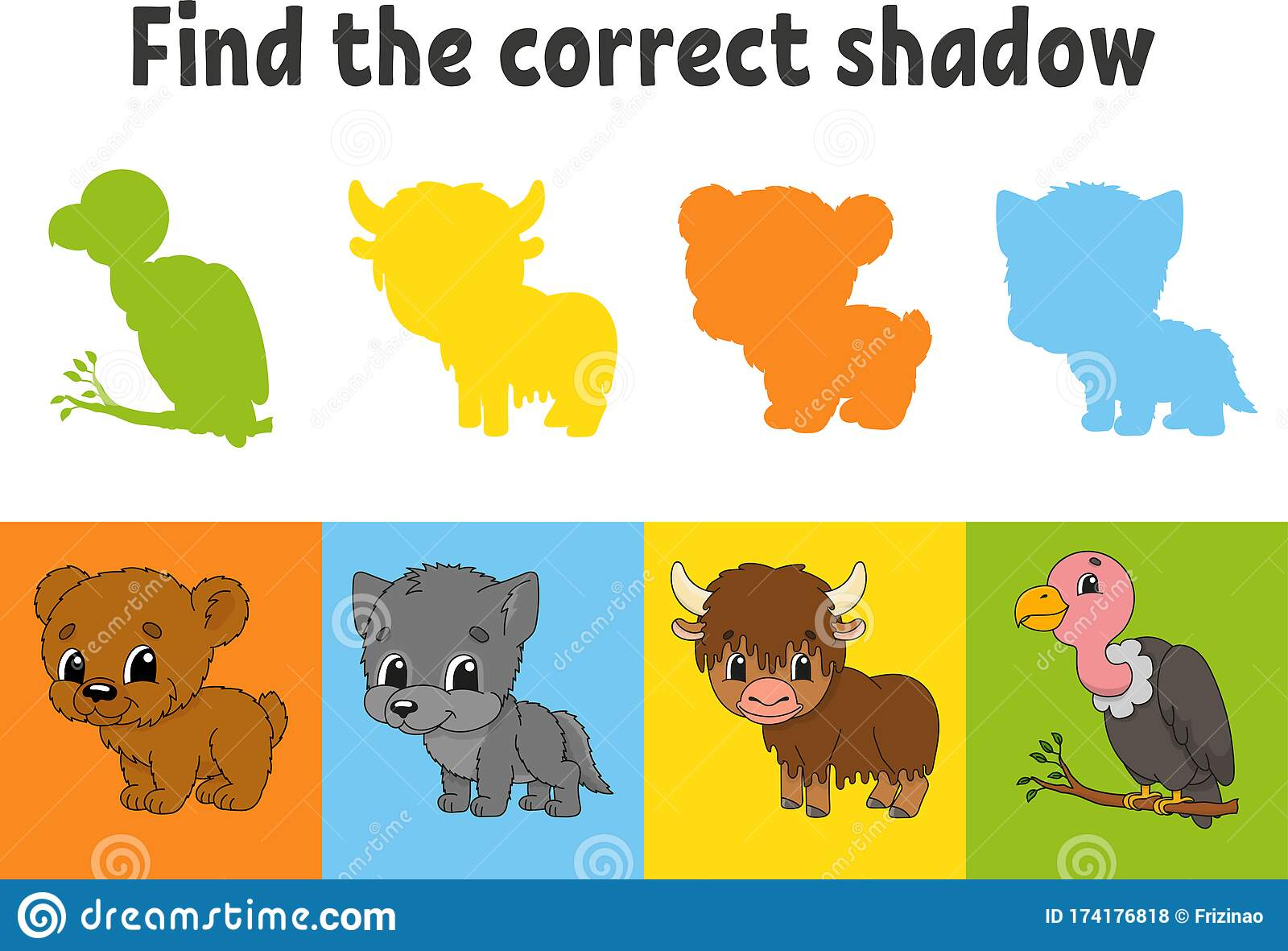 Find The Correct Shadow Education Worksheet Matching