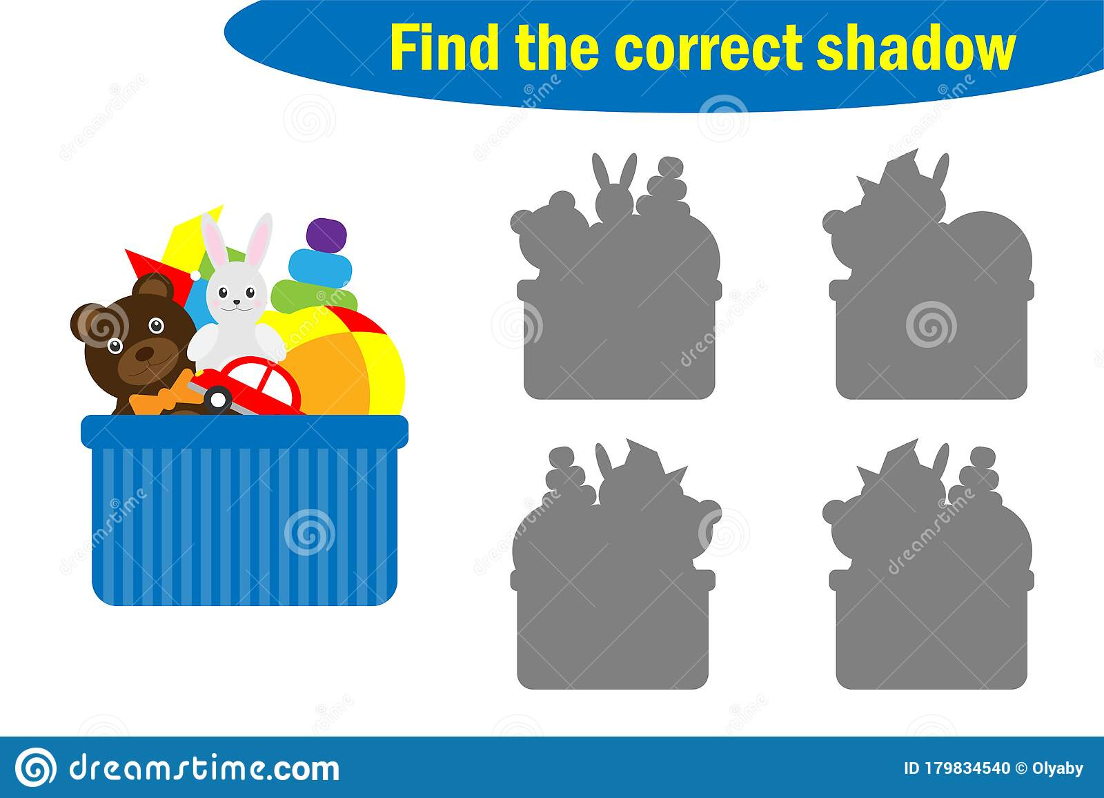 Find The Correct Shadow Toys Game For Children In