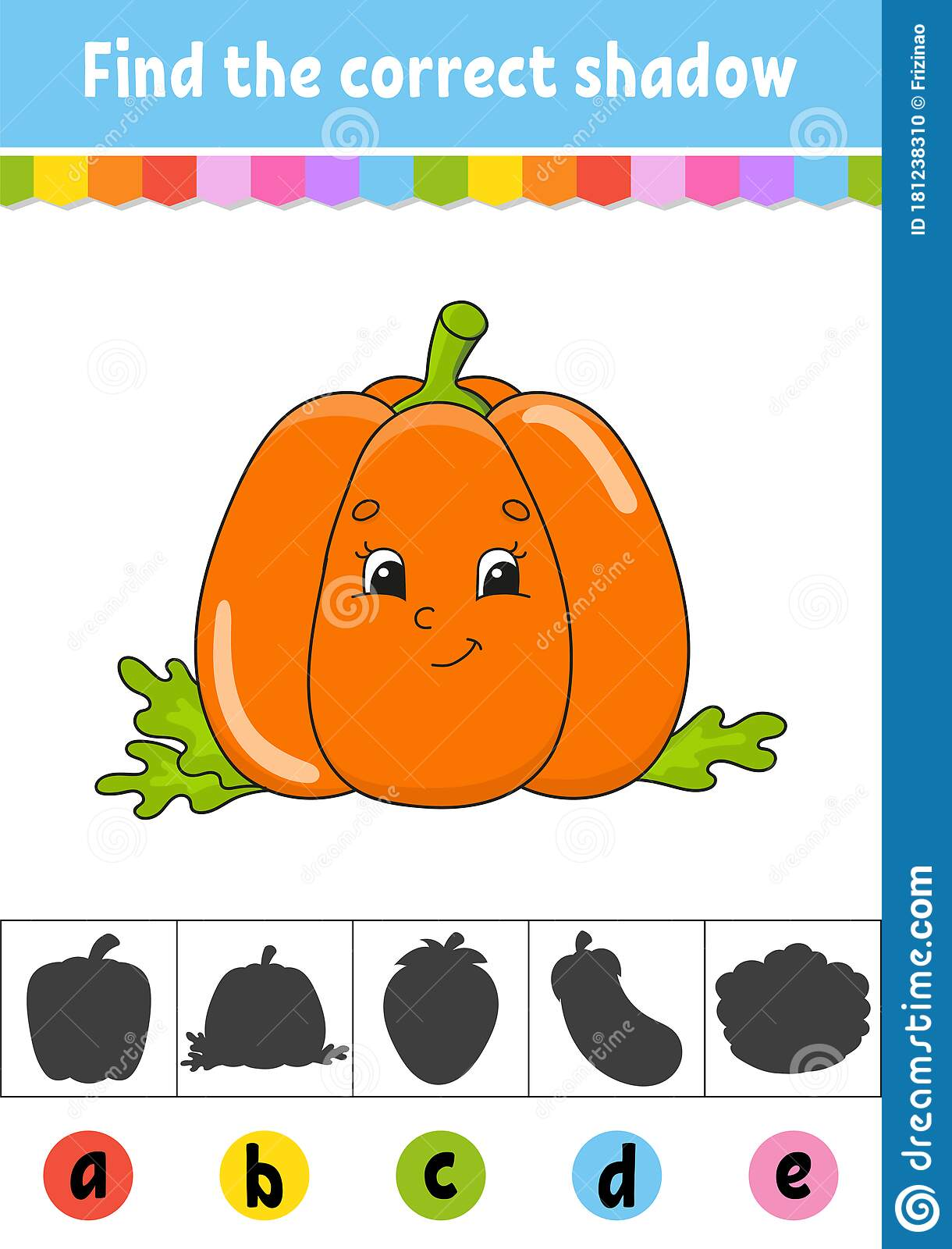 Find The Correct Shadow Vegetable Pumpkin Education