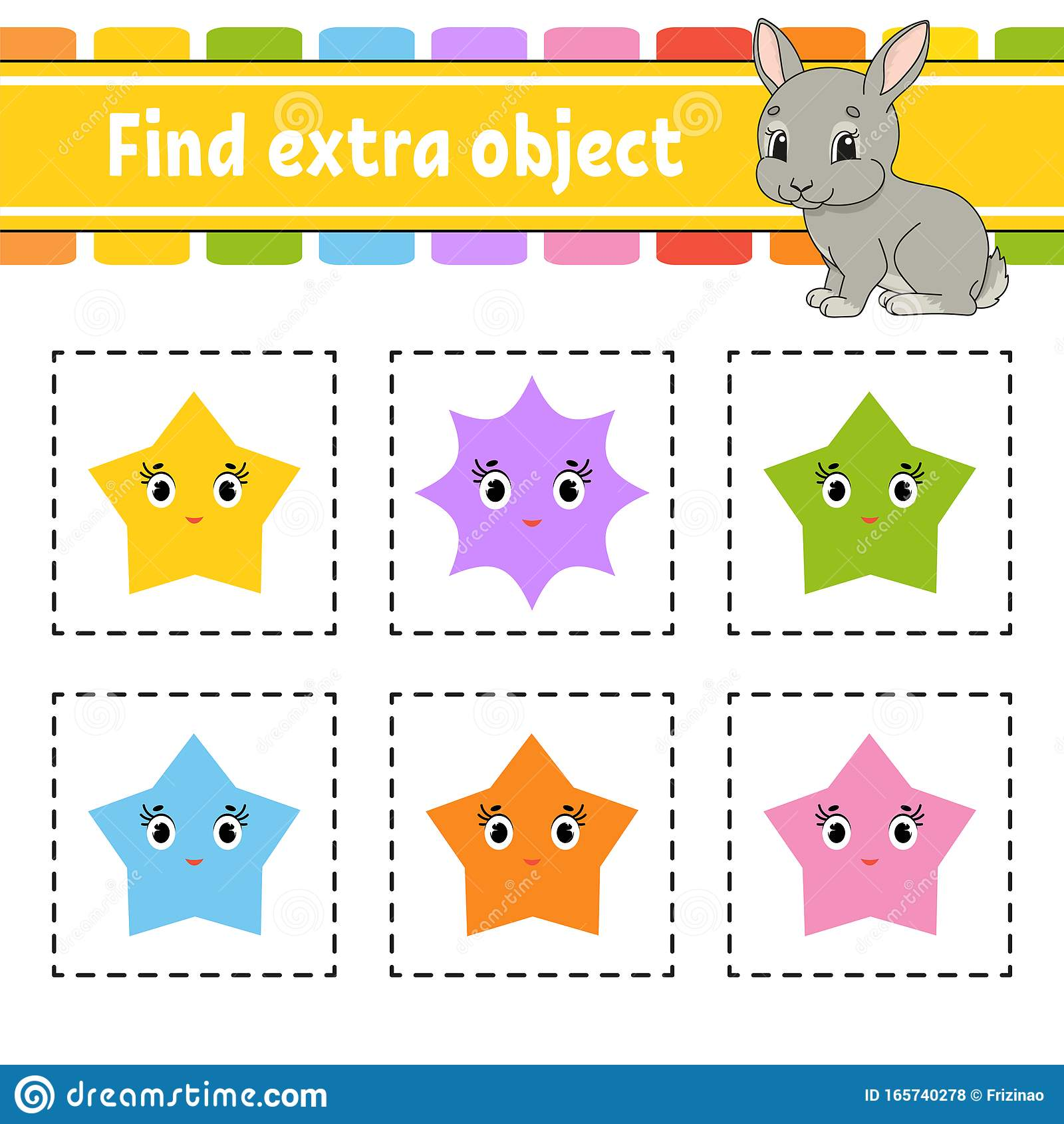 Find Extra Object Educational Activity Worksheet For Kids