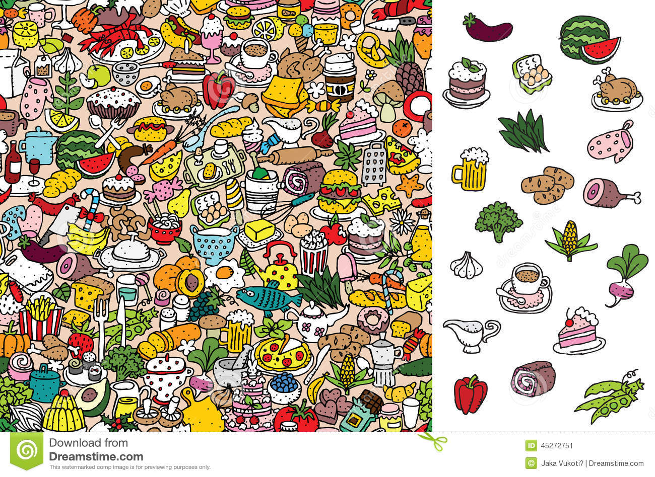 Find Food Visual Game Solution In Hidden Layer Stock