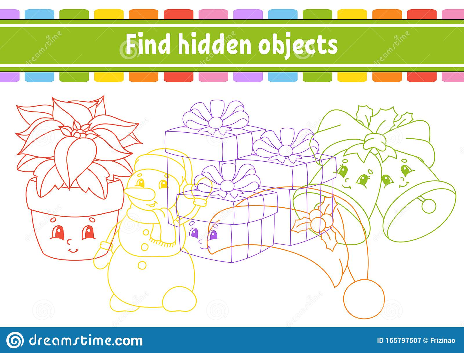 Find Hidden Object Education Developing Worksheet