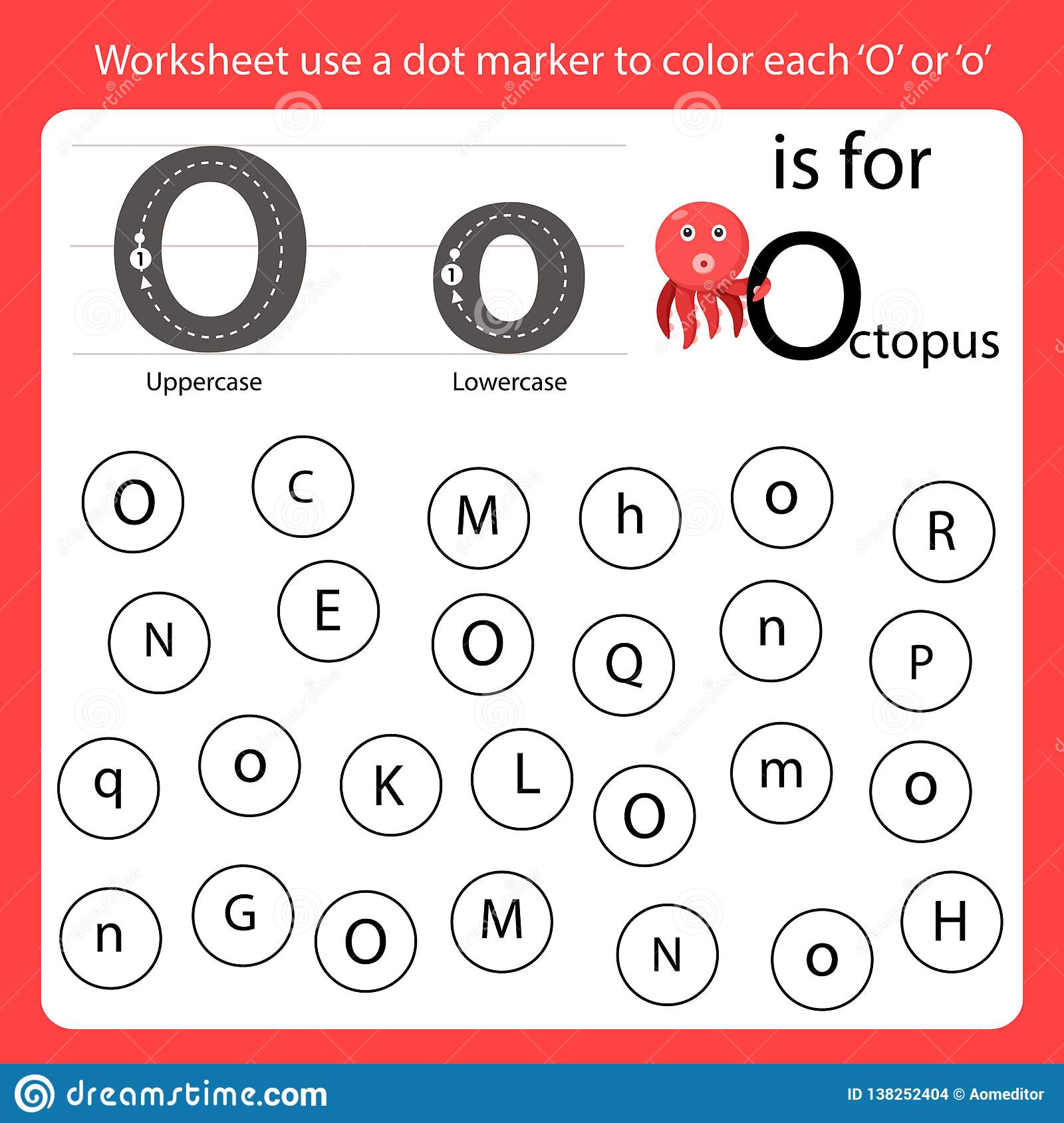 Find The Letter Worksheet Use A Dot Marker To Color Each O