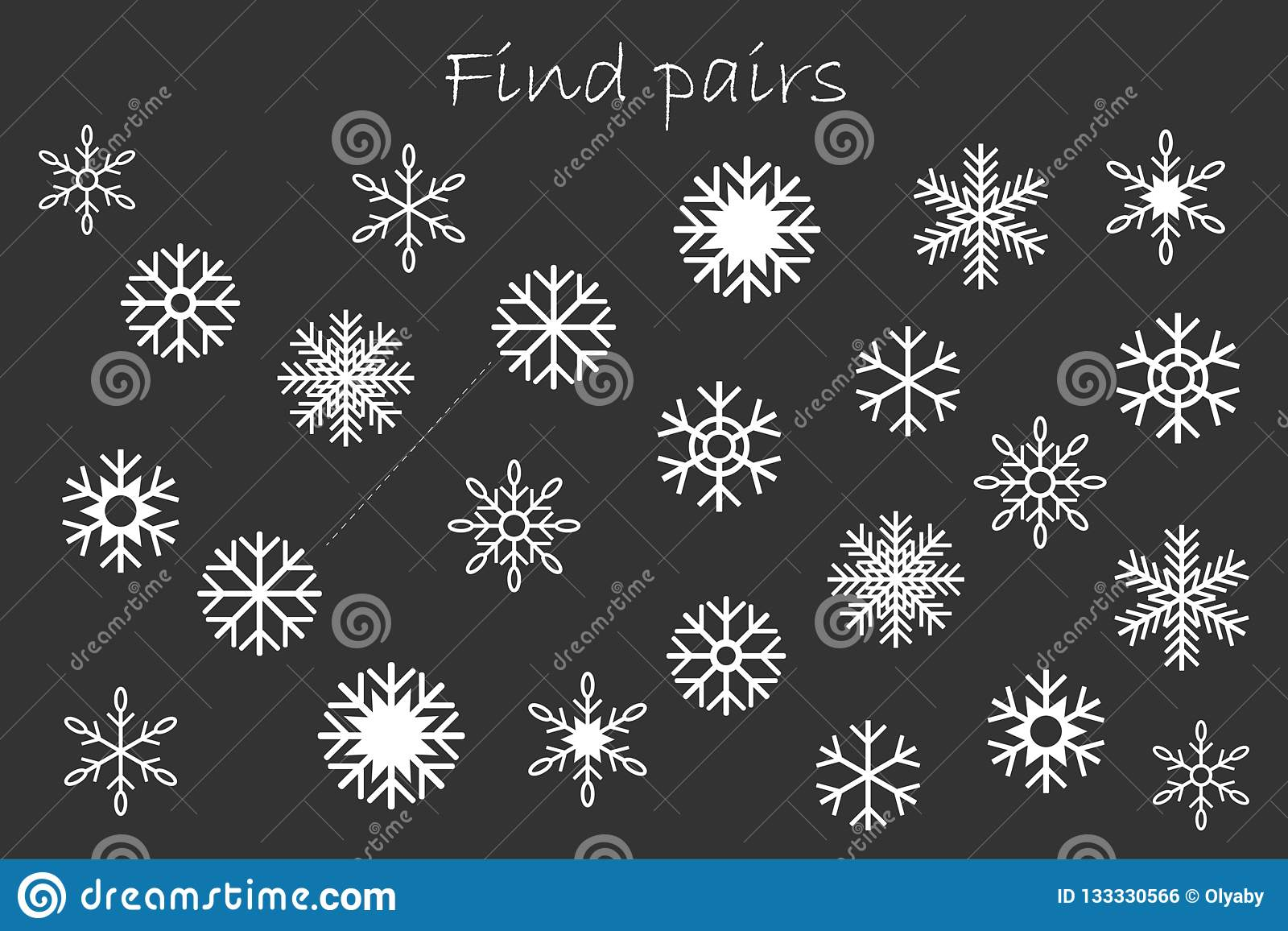 Find Pairs Of Identical Pictures Christmas Fun Education