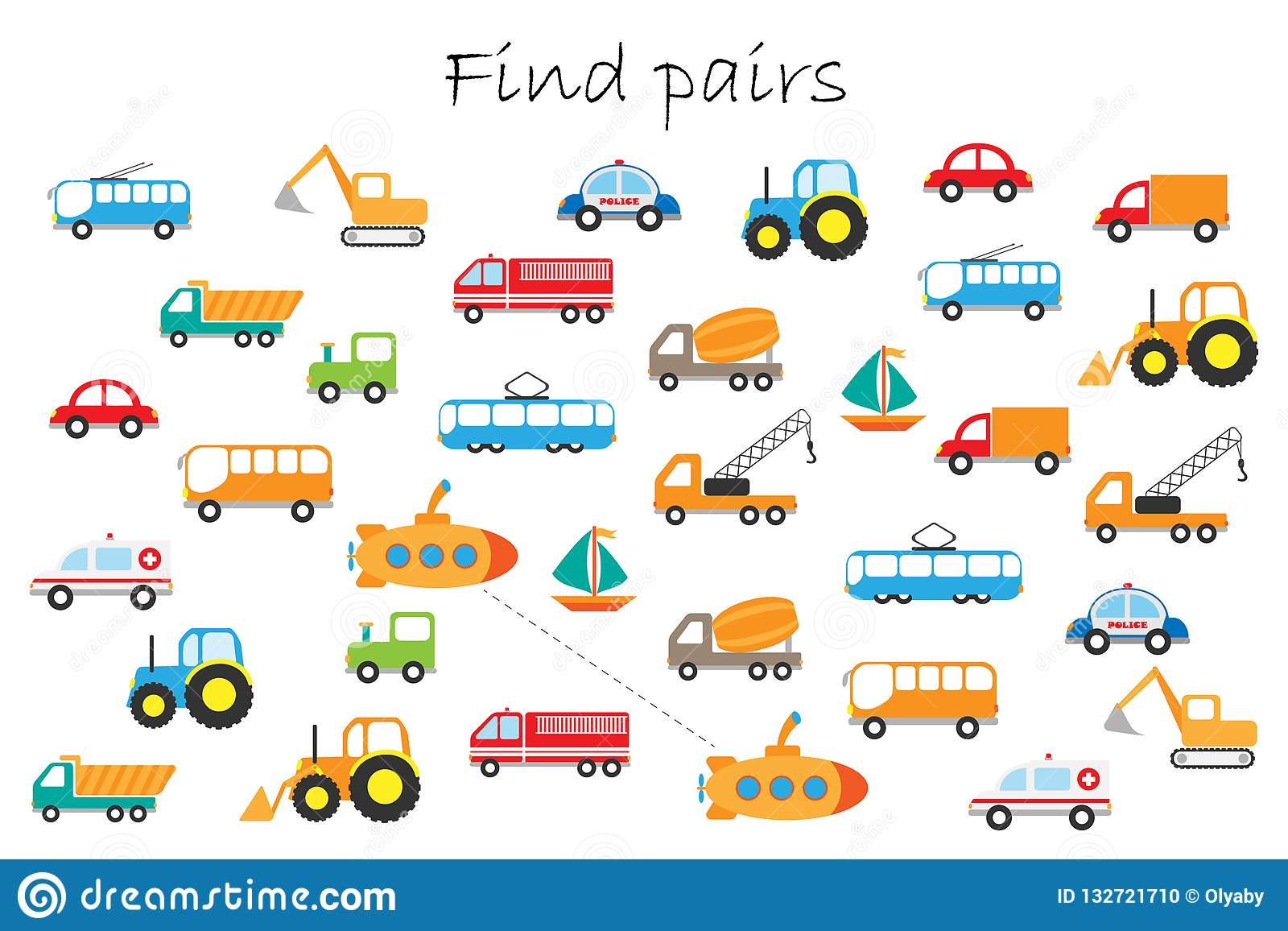 Find Pairs Of Identical Pictures Fun Education Game With