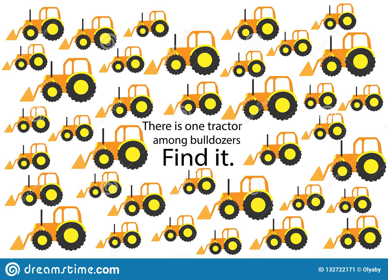 Find Tractor Among Bulldozers Fun Education Puzzle Game