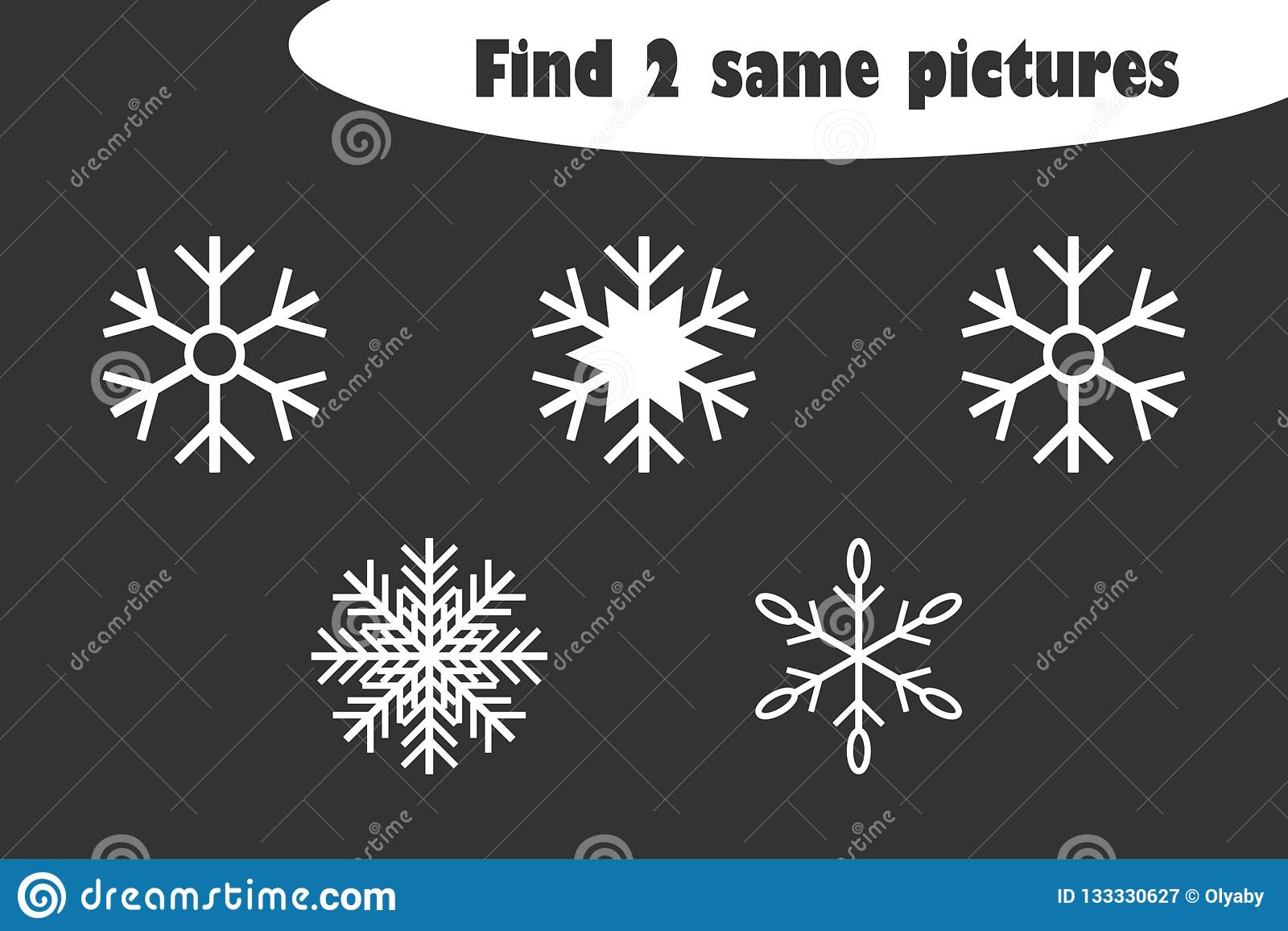 Find Two Identical Pictures Christmas Fun Education Game