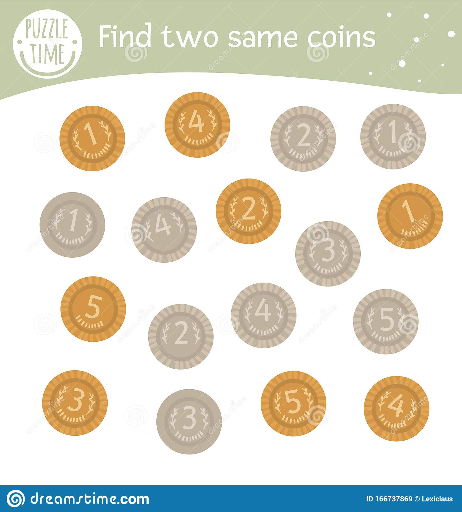 Find Two Same Coins Saint Patrick S Day Matching Activity