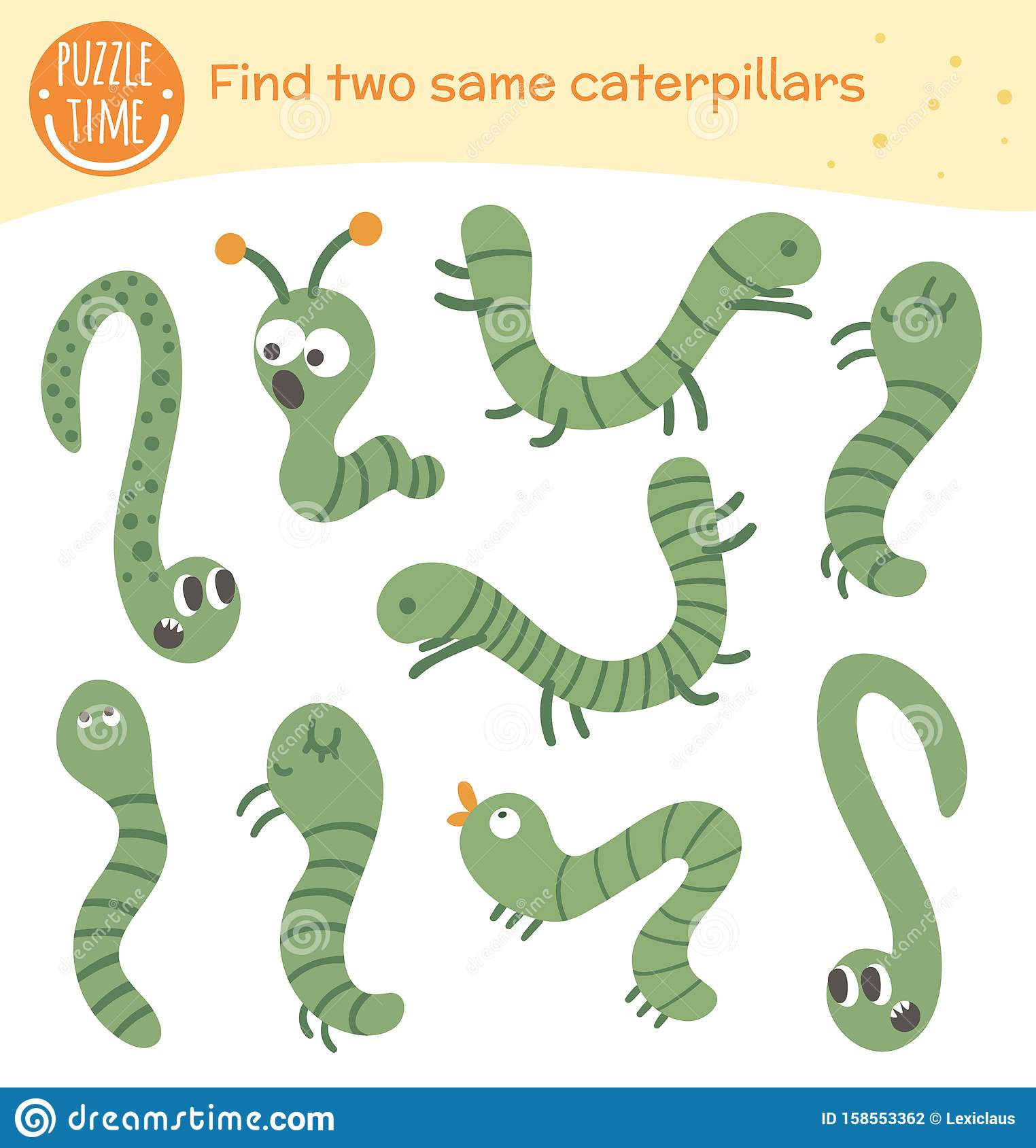 Find Two Same Insects Matching Activity For Preschool