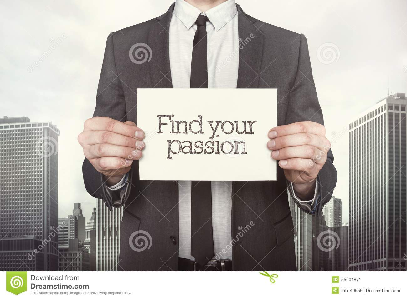 Find Your Passion On Paper Stock Photo