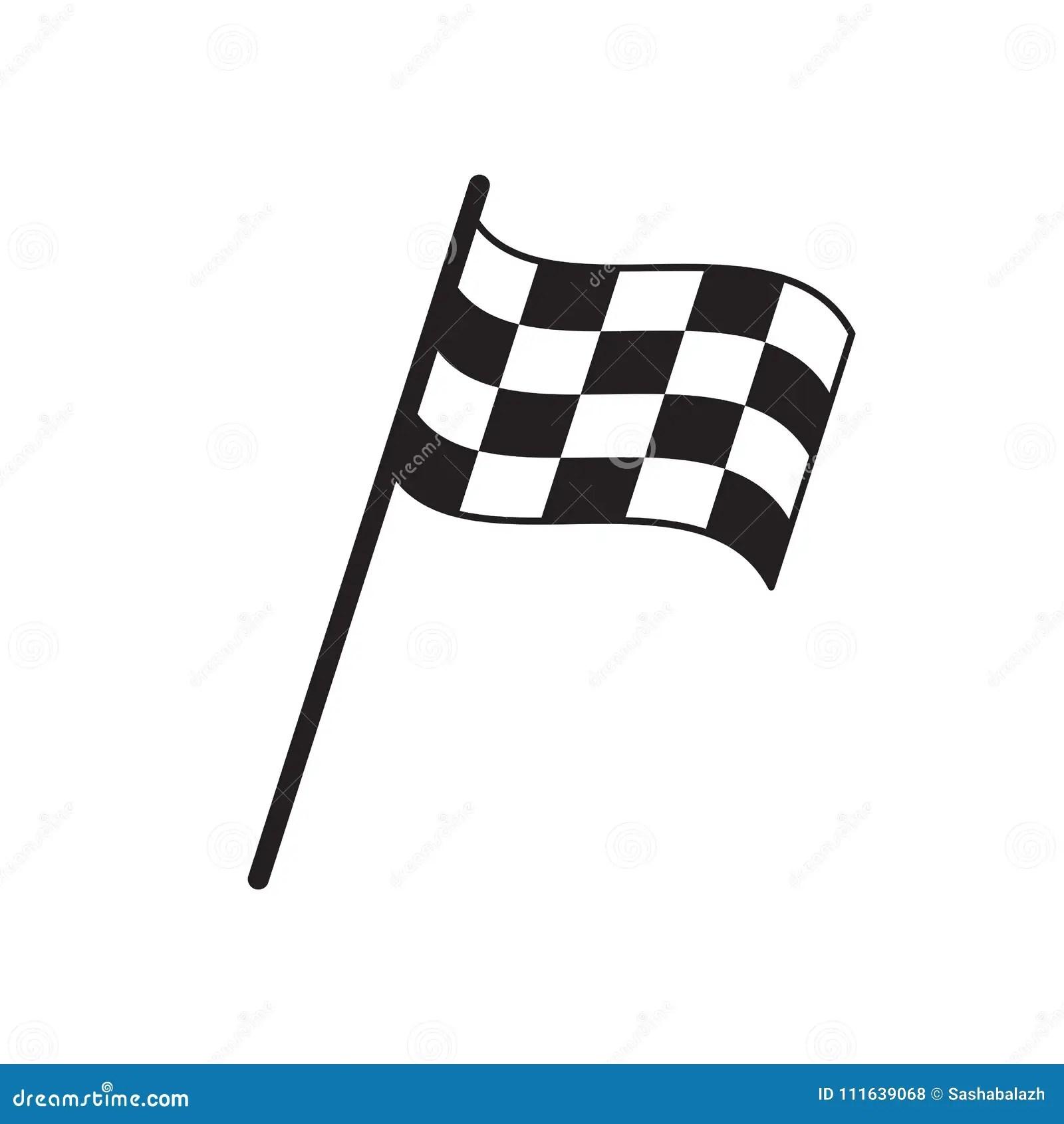 Finish Flag Vector Illustration Isolated On White Flat