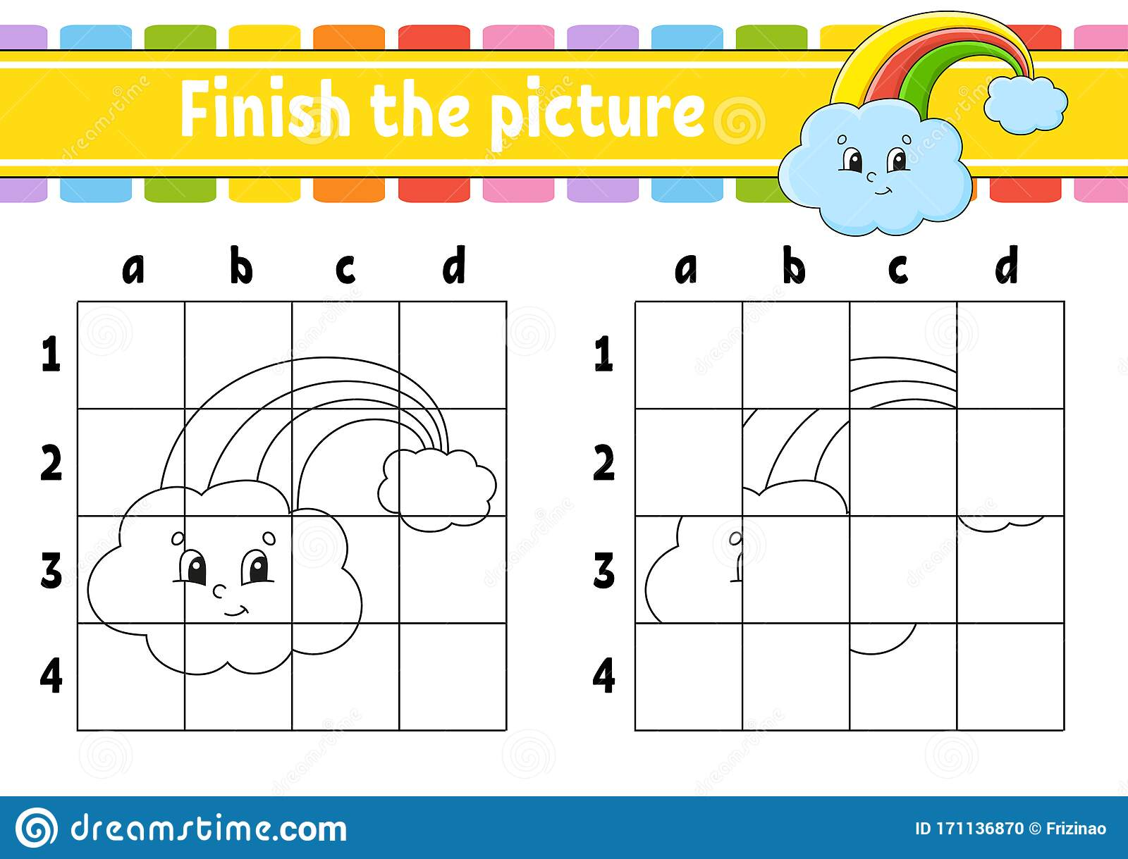 Finish The Picture Magic Rainbow Coloring Book Pages For