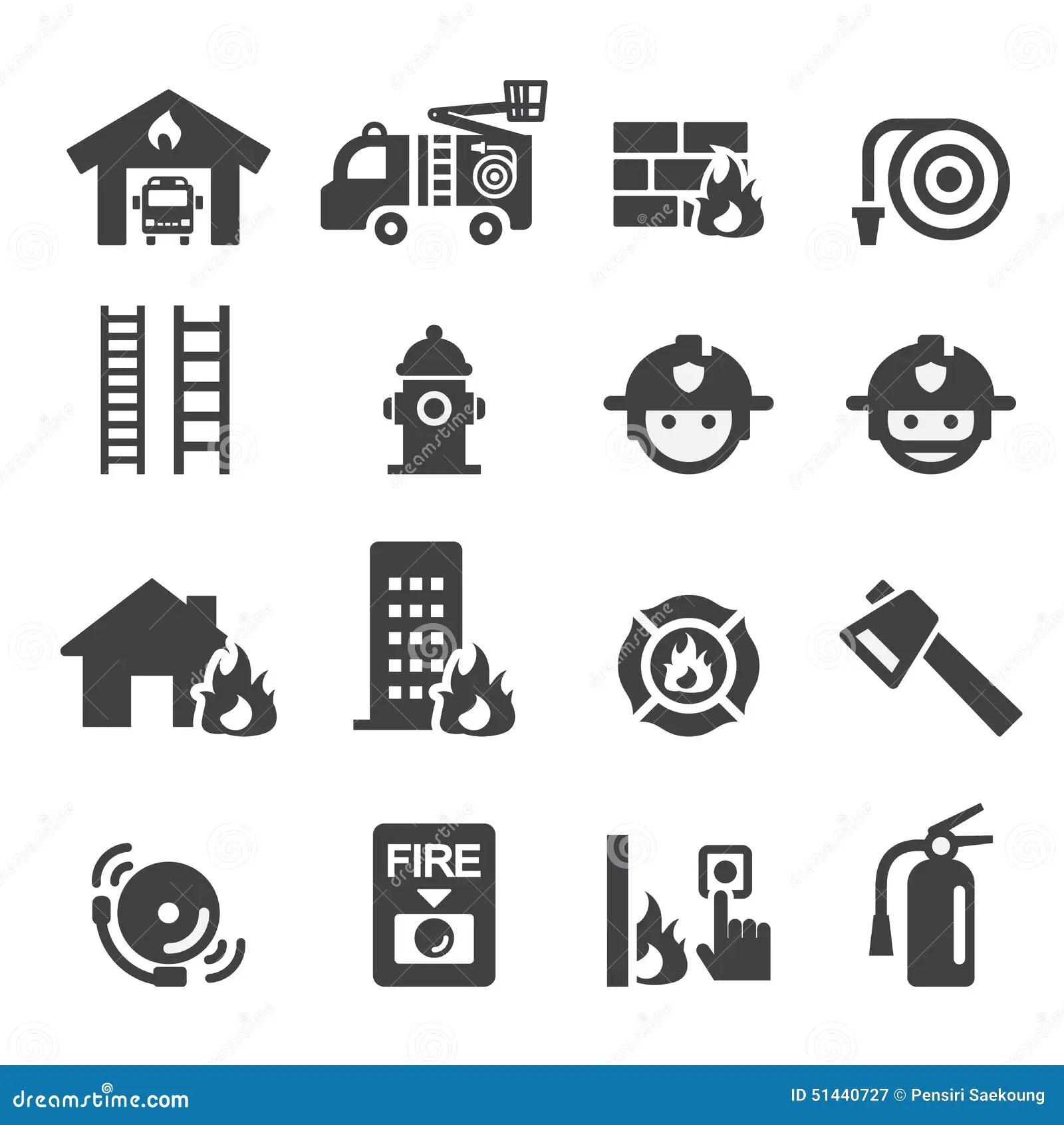 Fire Department Icon Stock Vector Illustration Of Helmet