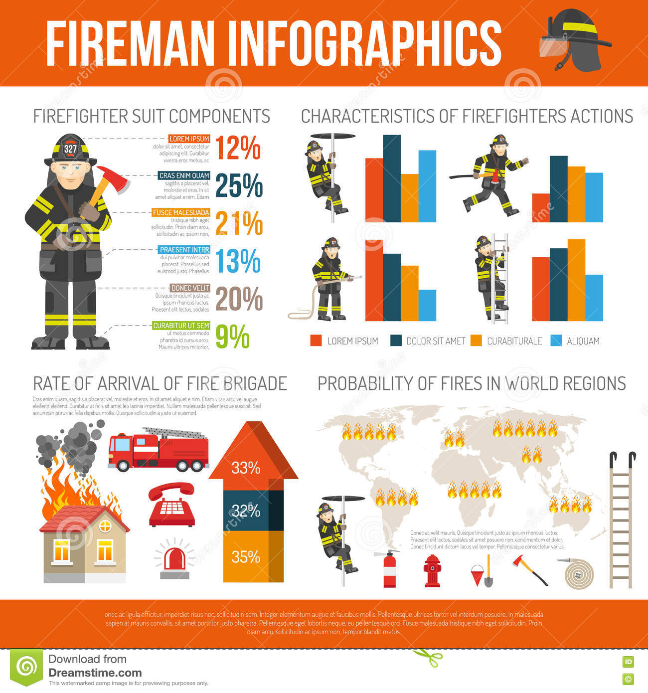 Elements For Firemen Black Royalty Free Stock Photography