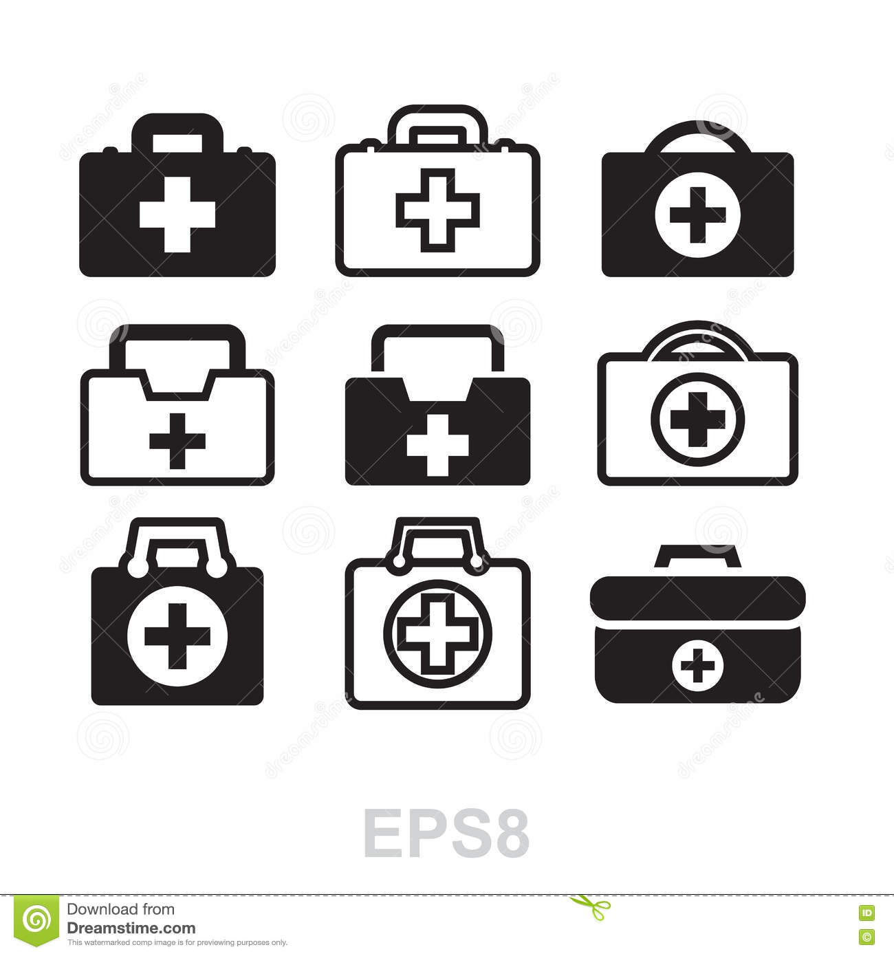 First Aid Kit Icon Isolated Stock Vector