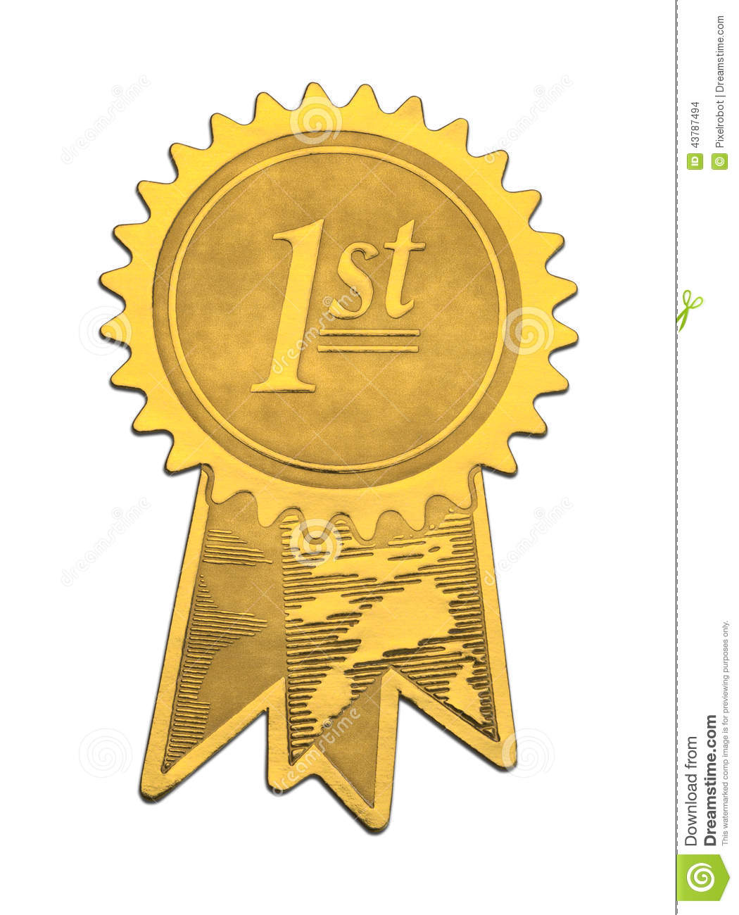 First Place Gold Seal Stock Photo Image Of Isolation