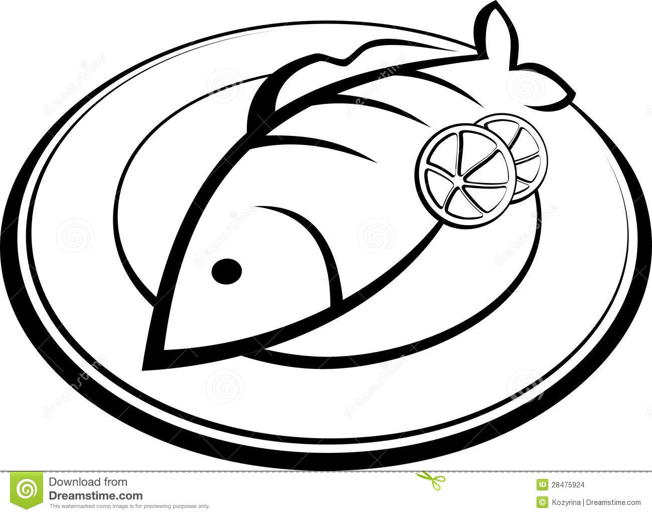 Fish On A Plate Stock Images