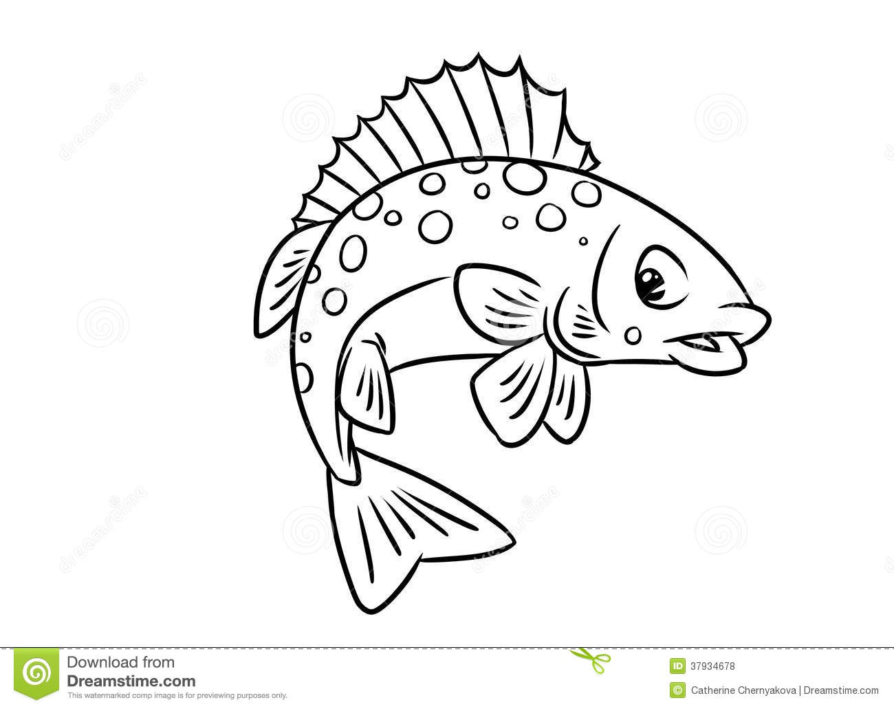 Fish Ruff Coloring Pages Stock Illustration Illustration Of Pages