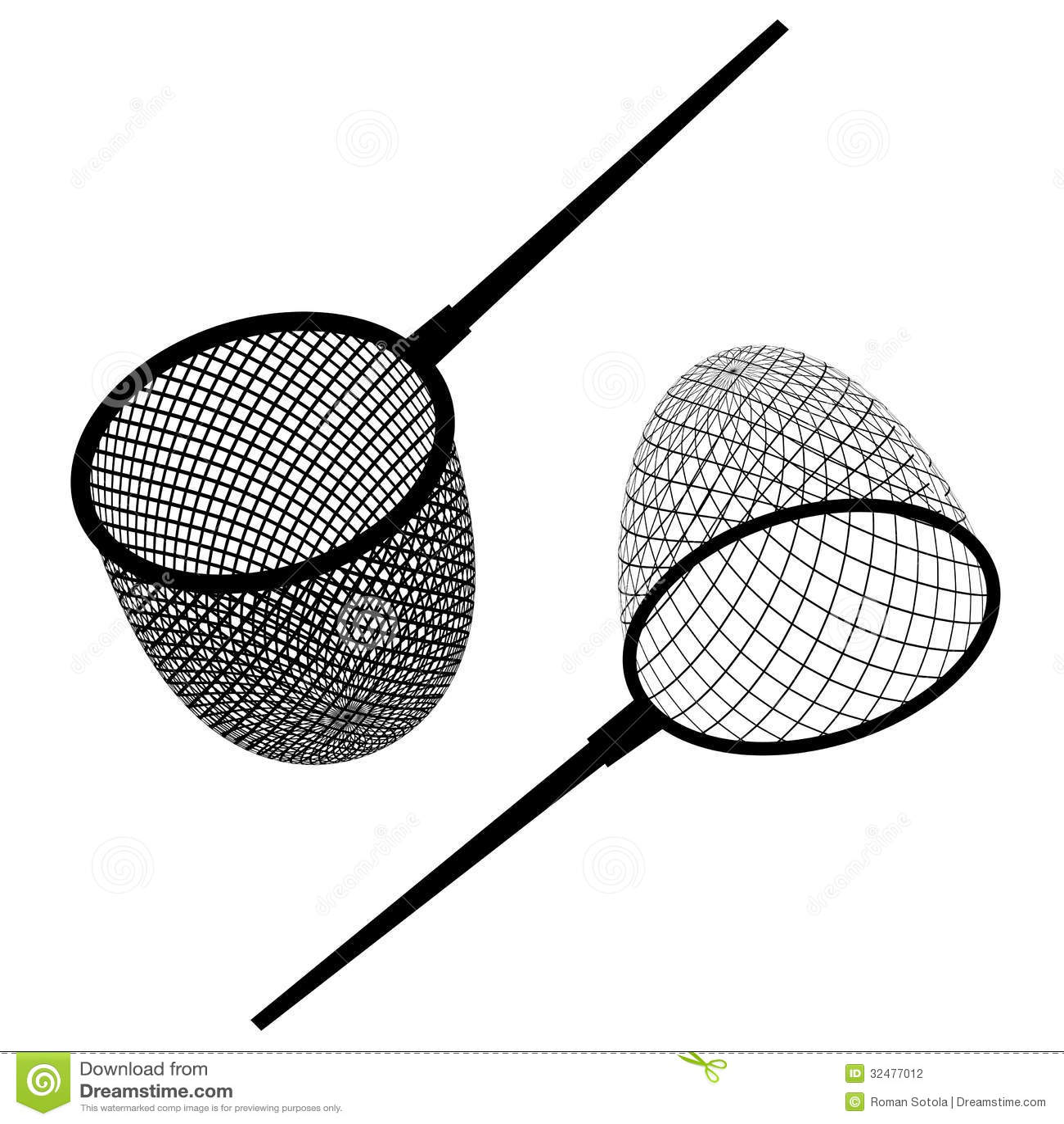 Fishing Net Black Icon Stock Vector Illustration Of