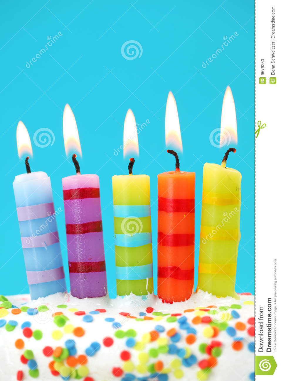 Five Birthday Candles Stock Image Image Of Five Vertical