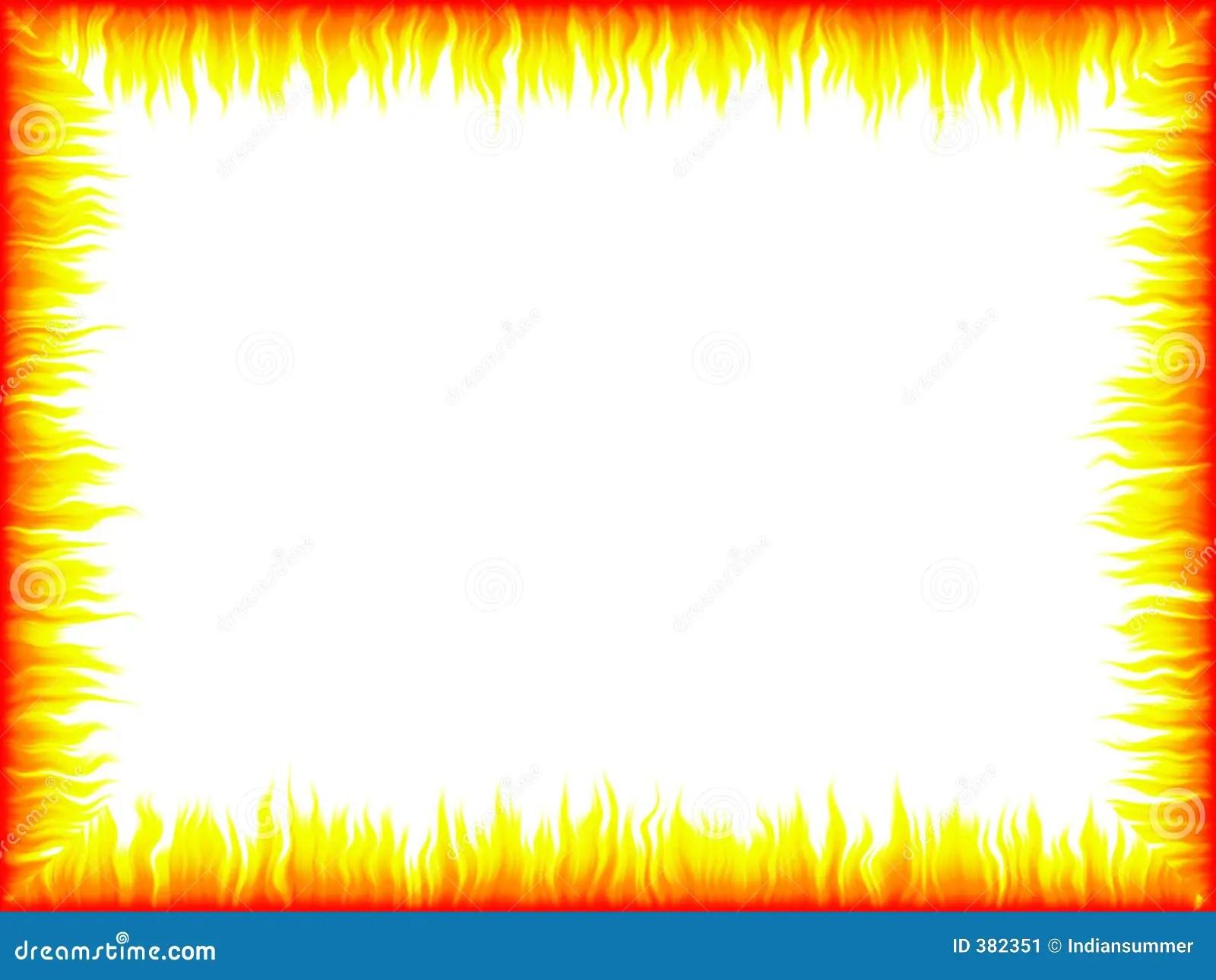 Flame Frame Stock Image Image 382351