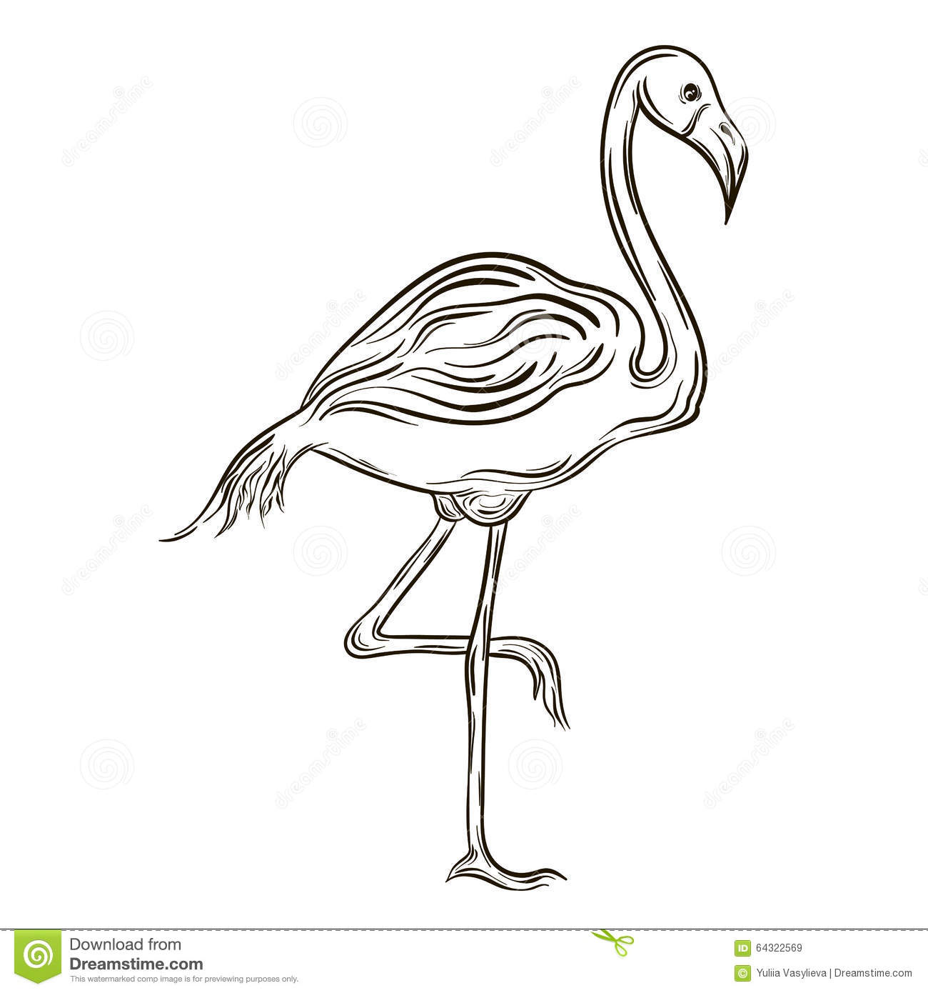 Flamingo Stock Vector