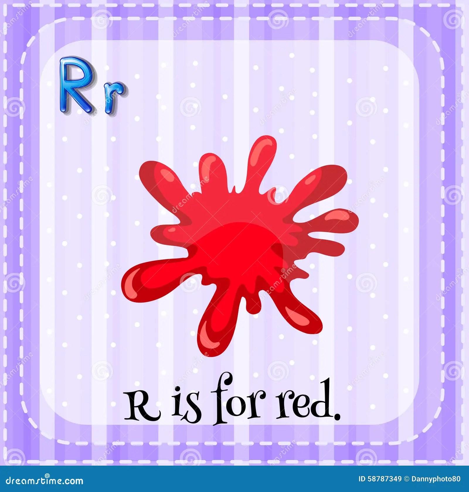 Flashcard Of Letter R Stock Vector Illustration Of Letter